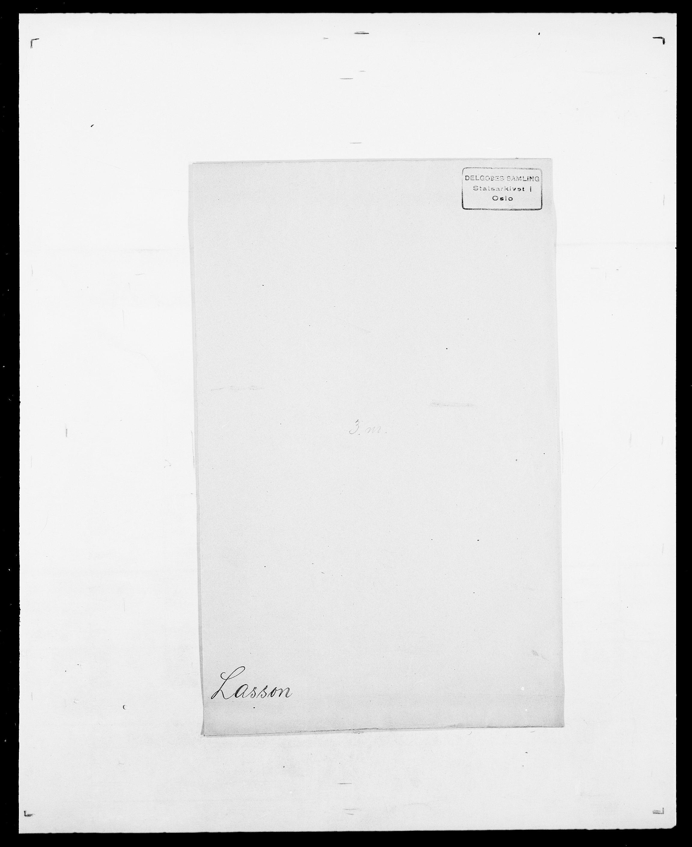 SAO, Delgobe, Charles Antoine - samling, D/Da/L0022: Krog - Lasteen, s. 833