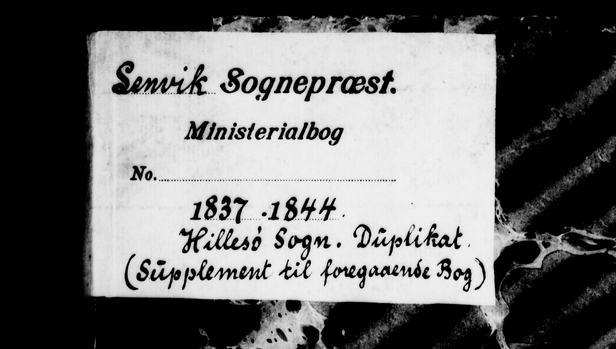 SATØ, Lenvik sokneprestembete, H/Ha: Klokkerbok nr. 19, 1837-1844
