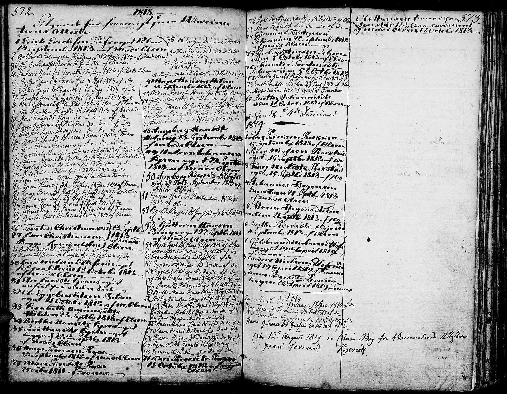 SAH, Gran prestekontor, Ministerialbok nr. 6, 1787-1824, s. 572-573