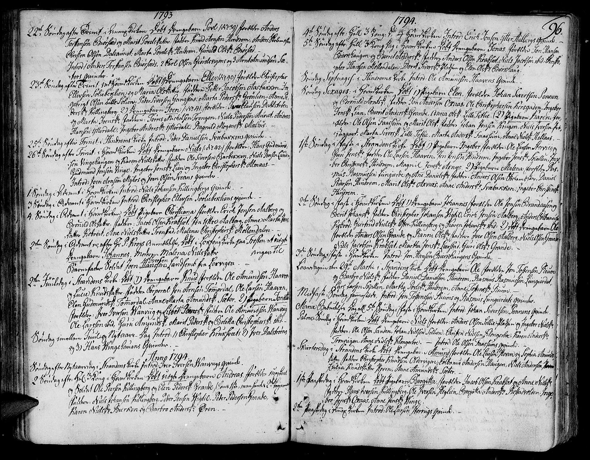 SAT, Ministerialprotokoller, klokkerbøker og fødselsregistre - Nord-Trøndelag, 701/L0004: Ministerialbok nr. 701A04, 1783-1816, s. 96