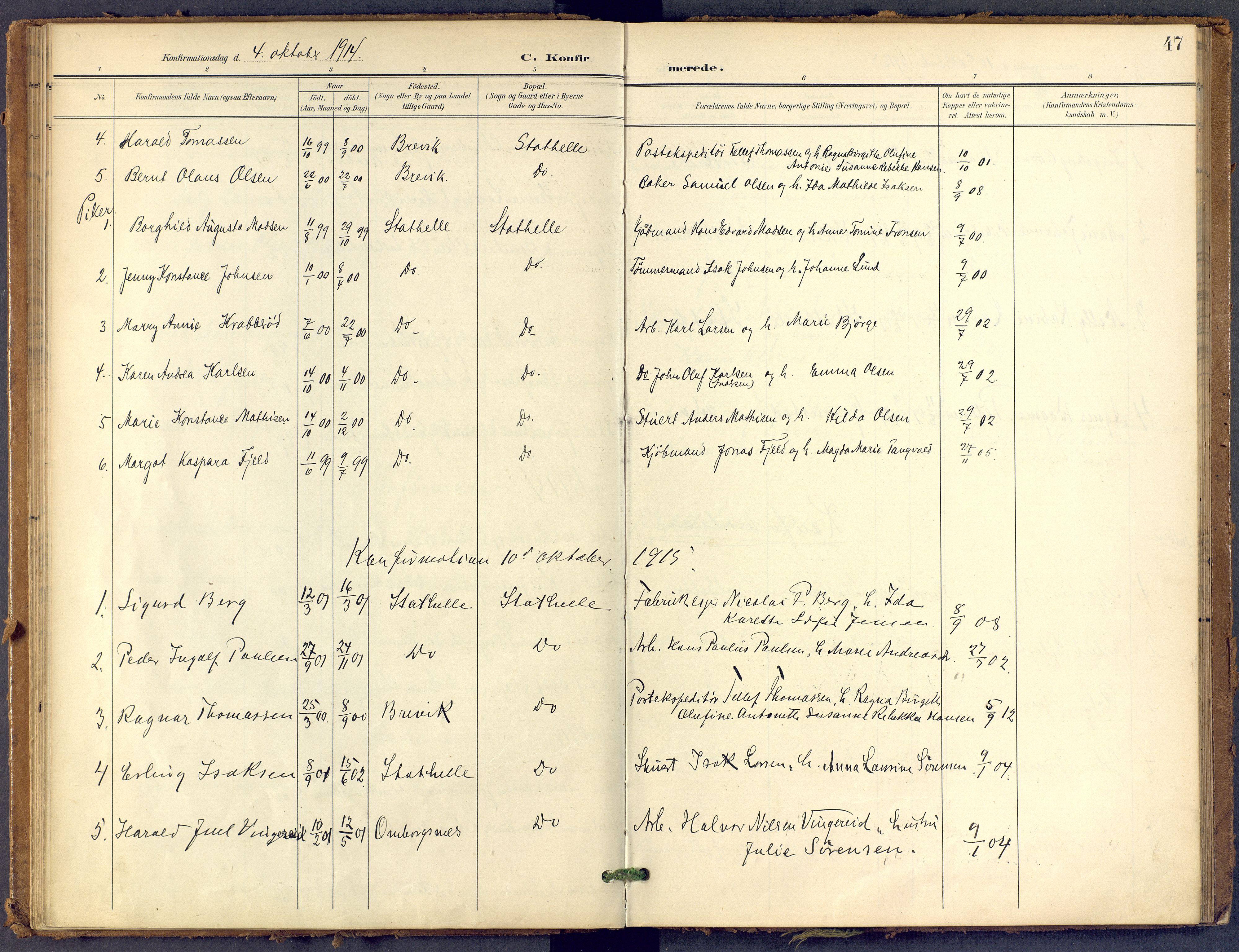 SAKO, Bamble kirkebøker, F/Fb/L0002: Ministerialbok nr. II 2, 1900-1921, s. 47