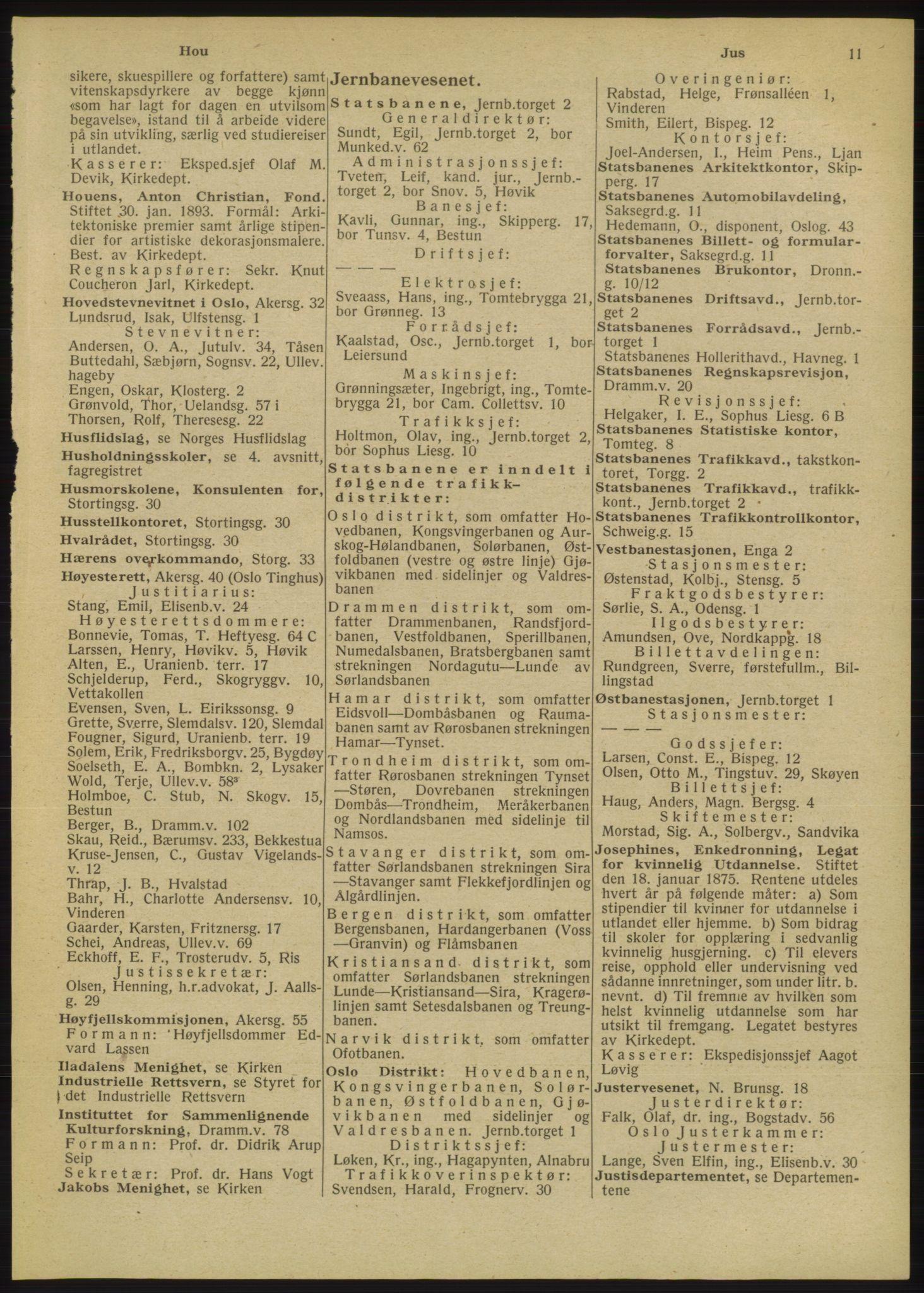 RA, Oslo adressebok (publikasjon)*, 1947, s. 11