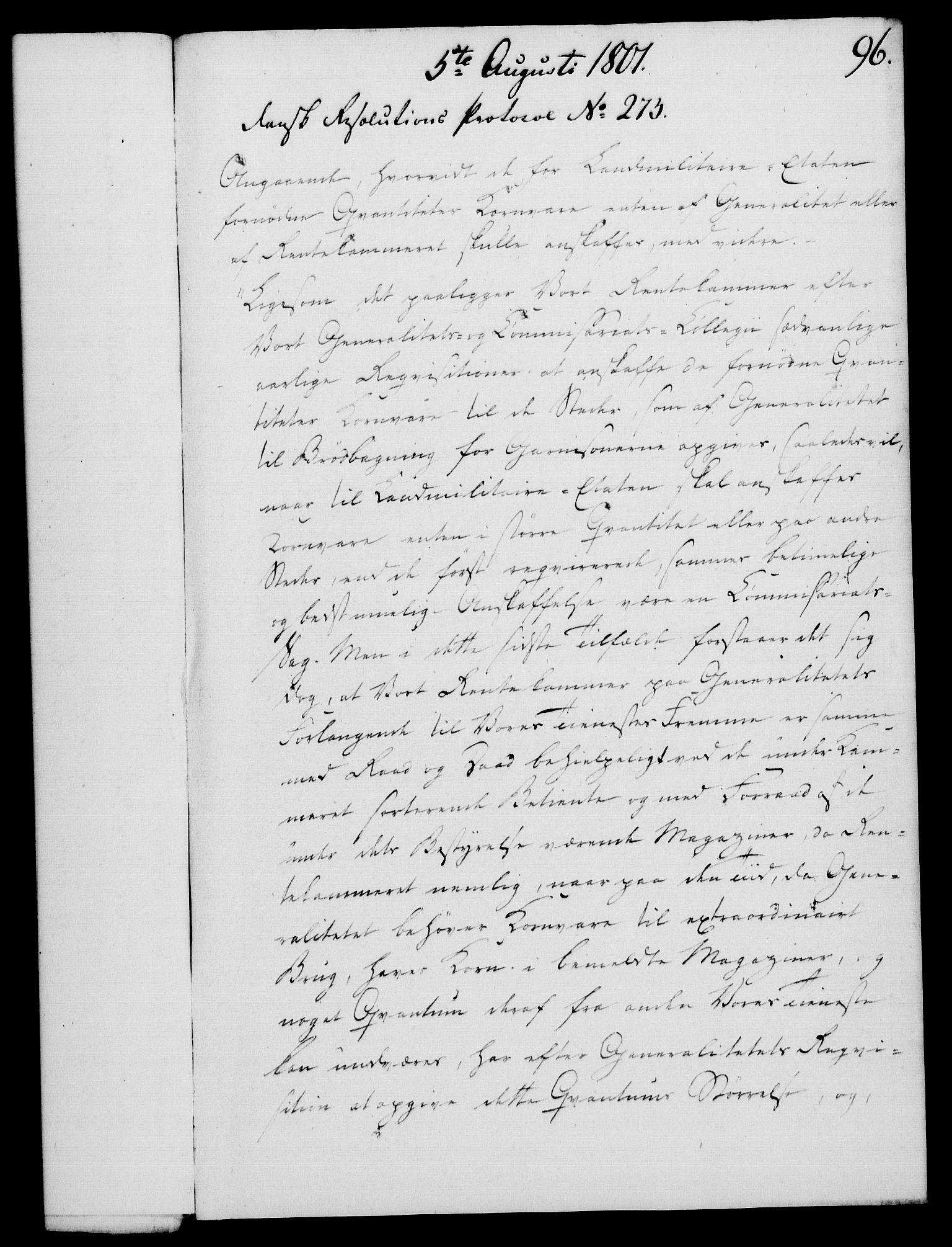 RA, Rentekammeret, Kammerkanselliet, G/Gf/Gfa/L0083: Norsk relasjons- og resolusjonsprotokoll (merket RK 52.83), 1801, s. 545