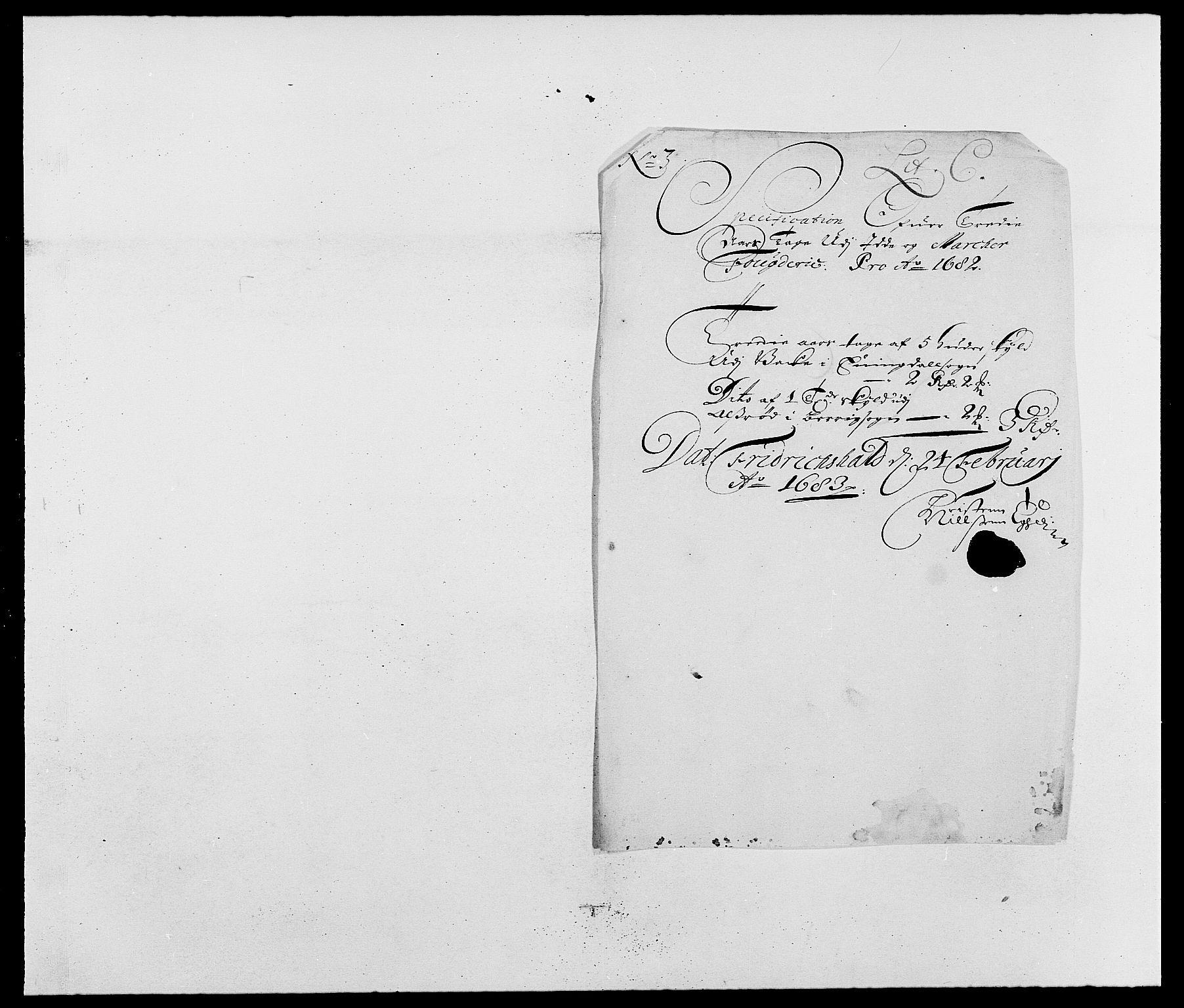 RA, Rentekammeret inntil 1814, Reviderte regnskaper, Fogderegnskap, R01/L0004: Fogderegnskap Idd og Marker , 1682-1683, s. 55