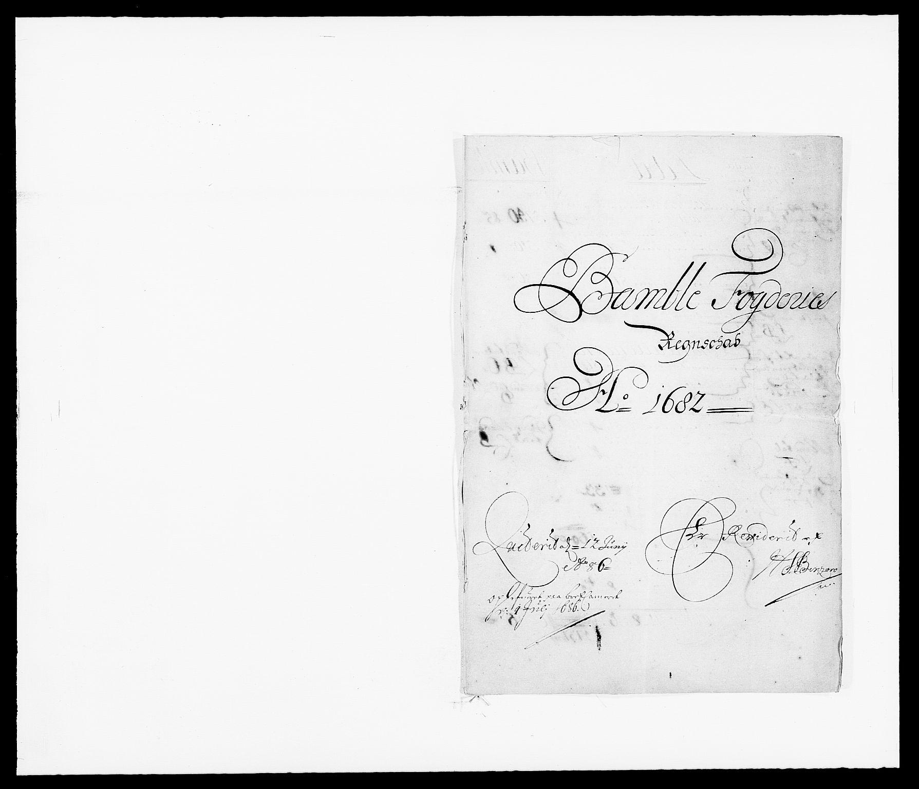 RA, Rentekammeret inntil 1814, Reviderte regnskaper, Fogderegnskap, R34/L2046: Fogderegnskap Bamble, 1682-1683, s. 1