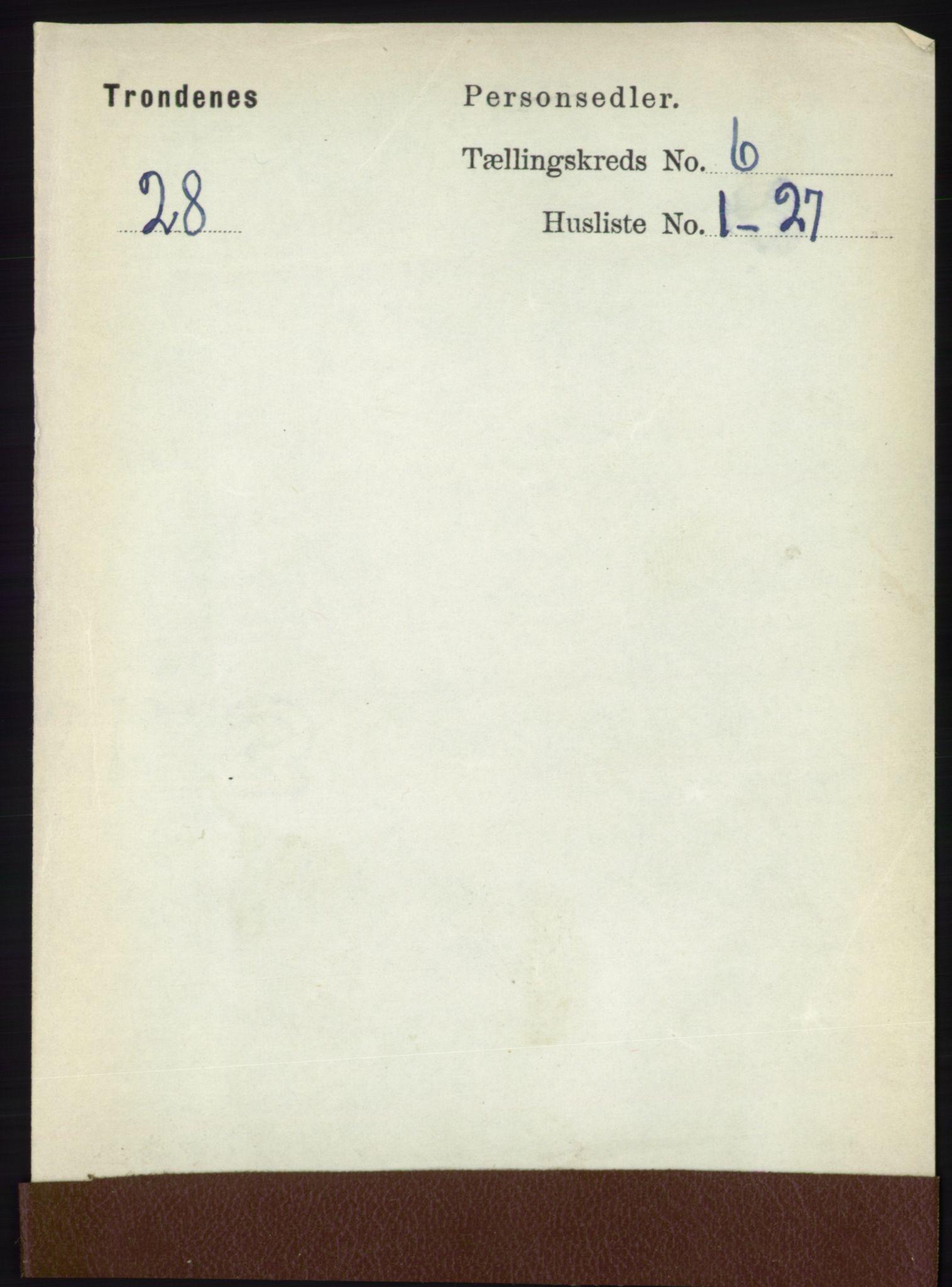 RA, Folketelling 1891 for 1914 Trondenes herred, 1891, s. 3821