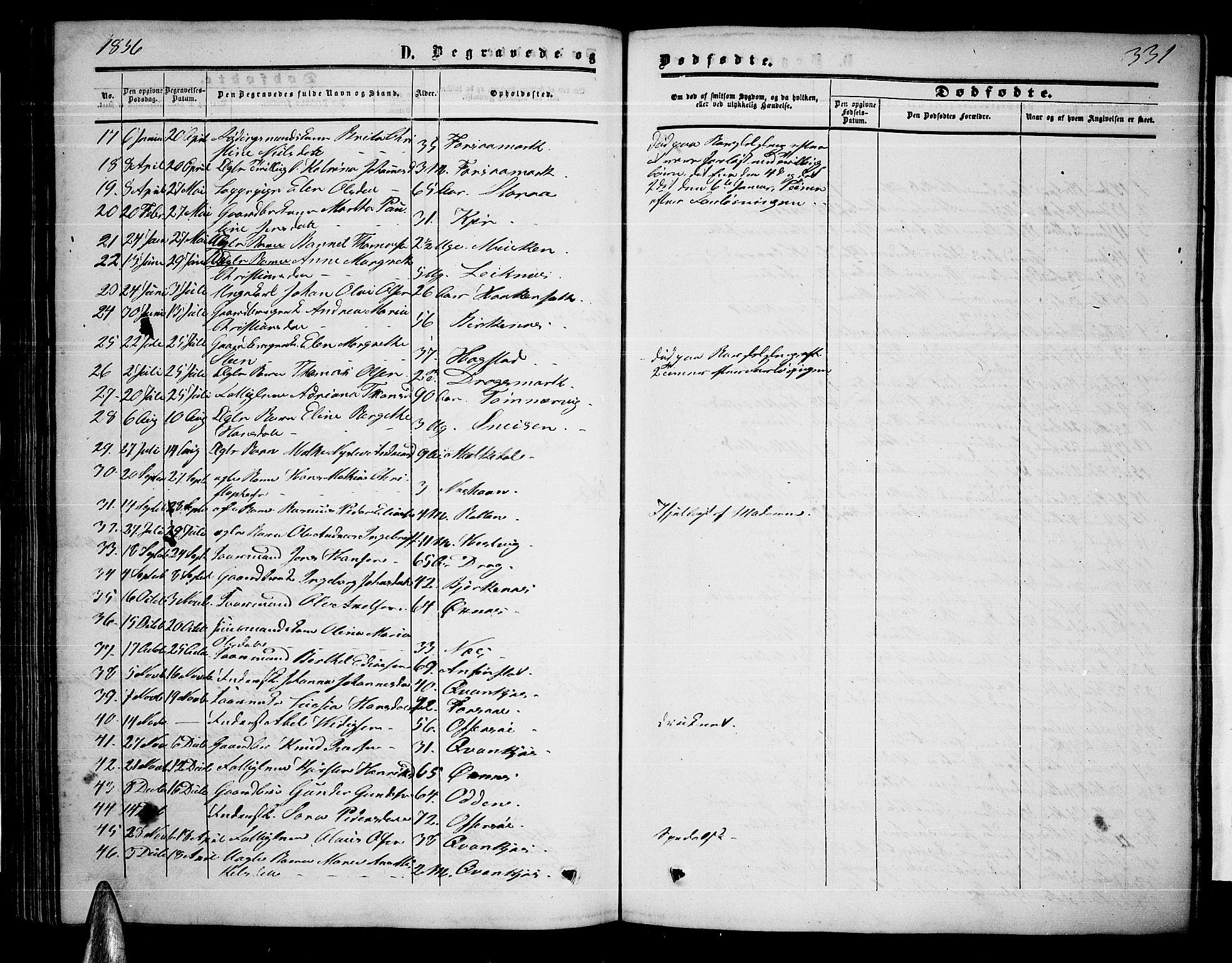 SAT, Ministerialprotokoller, klokkerbøker og fødselsregistre - Nordland, 872/L1046: Klokkerbok nr. 872C02, 1852-1879, s. 331
