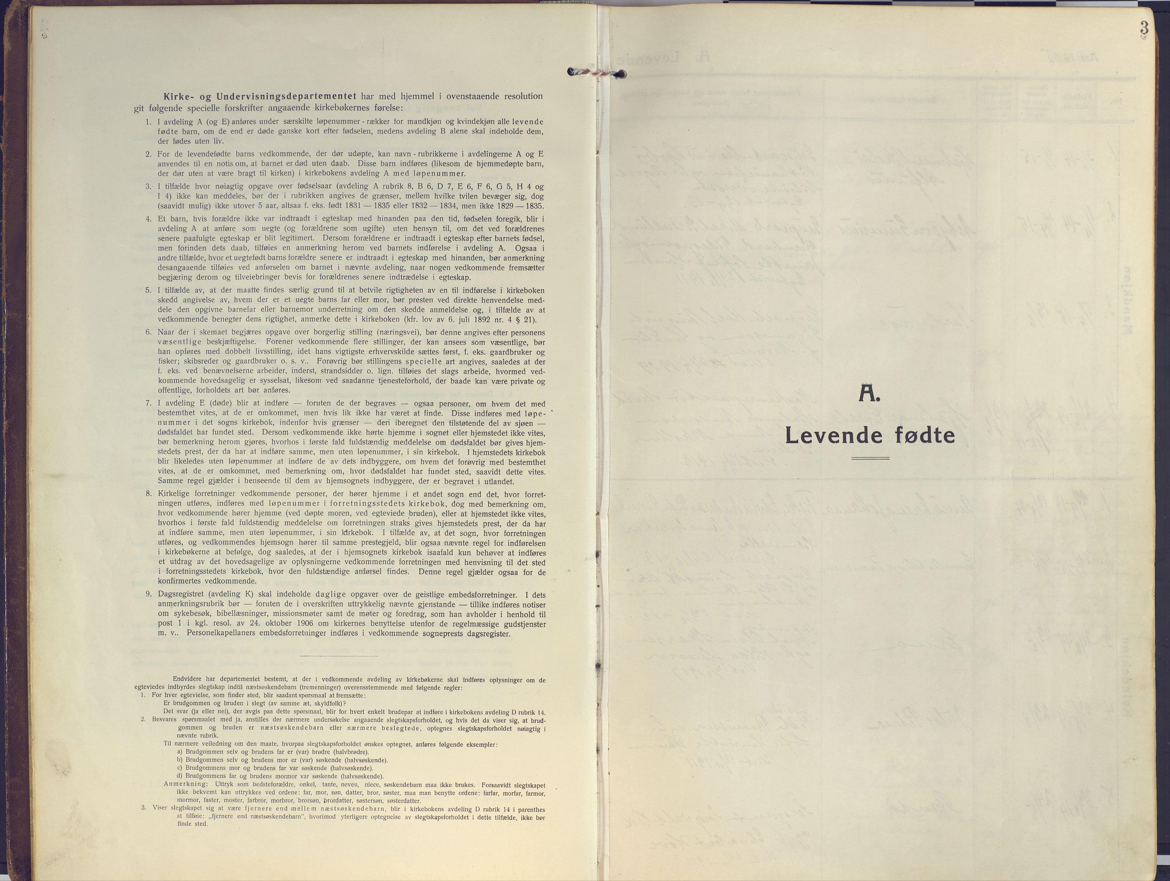 SATØ, Sand/Bjarkøy sokneprestkontor, I/Ia/Iaa/L0006kirke: Ministerialbok nr. 6, 1915-1929, s. 3