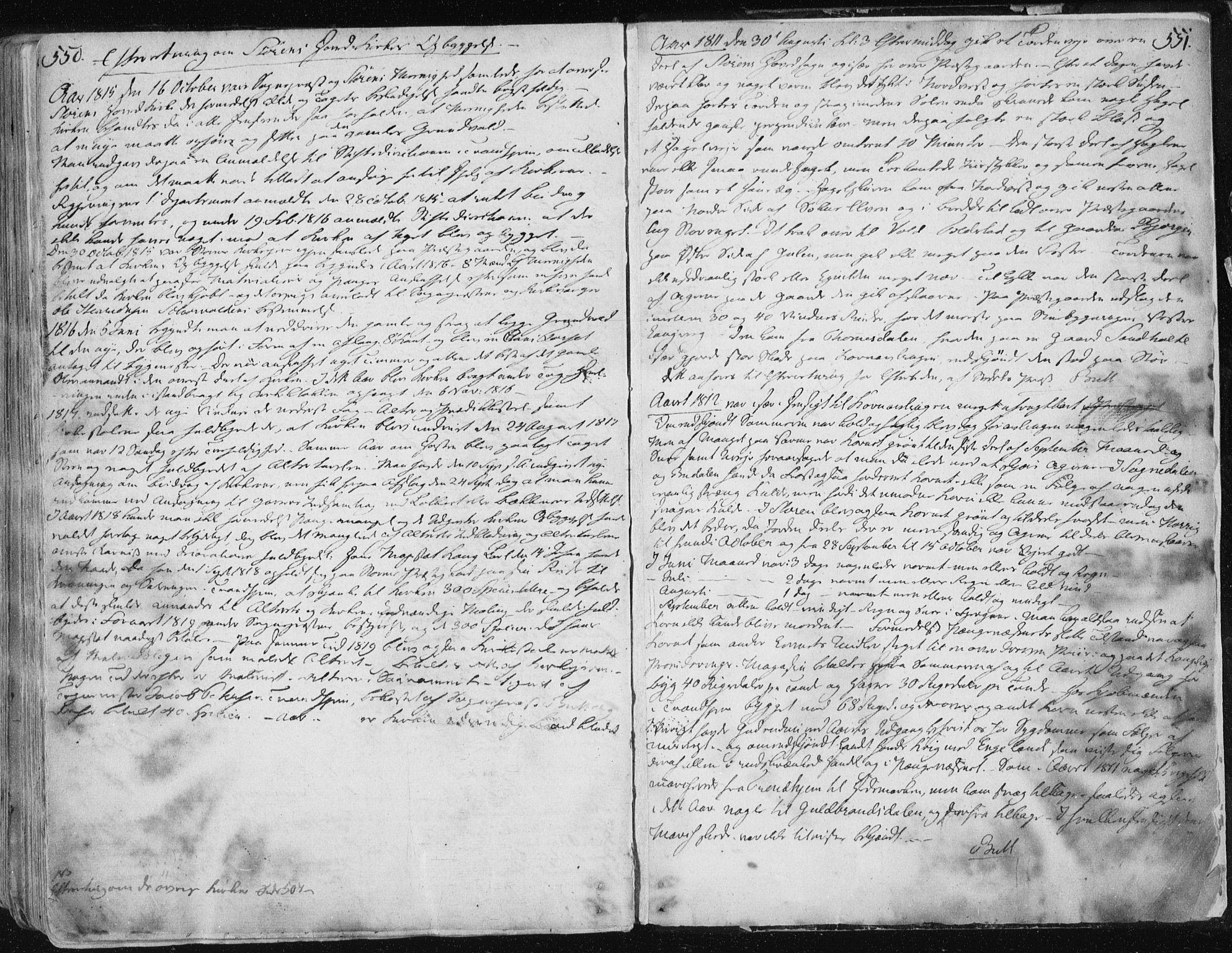 SAT, Ministerialprotokoller, klokkerbøker og fødselsregistre - Sør-Trøndelag, 687/L0992: Ministerialbok nr. 687A03 /1, 1788-1815, s. 550-551