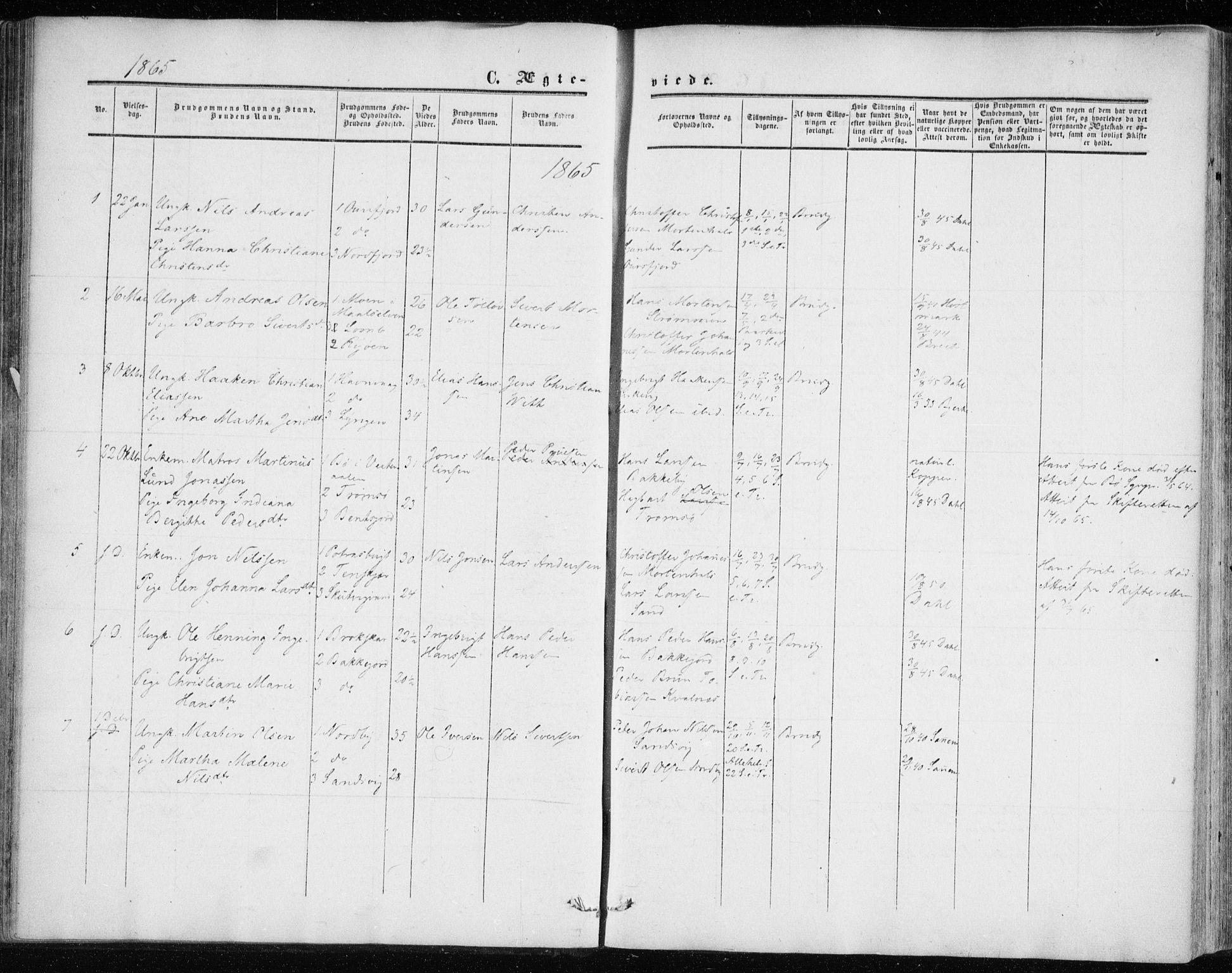 SATØ, Balsfjord sokneprestembete, Ministerialbok nr. 1, 1858-1870
