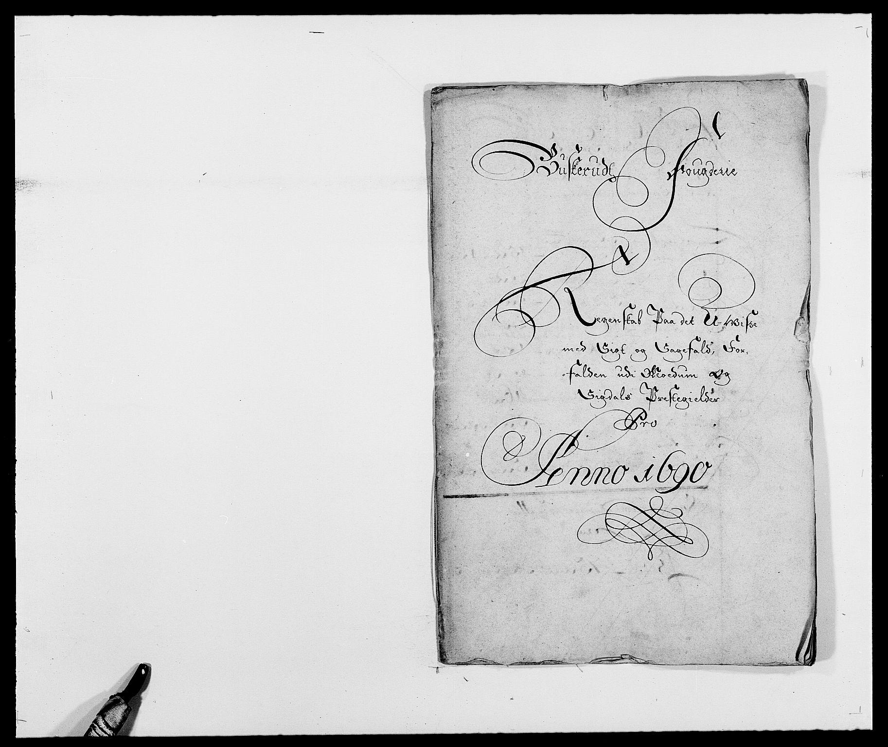 RA, Rentekammeret inntil 1814, Reviderte regnskaper, Fogderegnskap, R25/L1680: Fogderegnskap Buskerud, 1689-1690, s. 255
