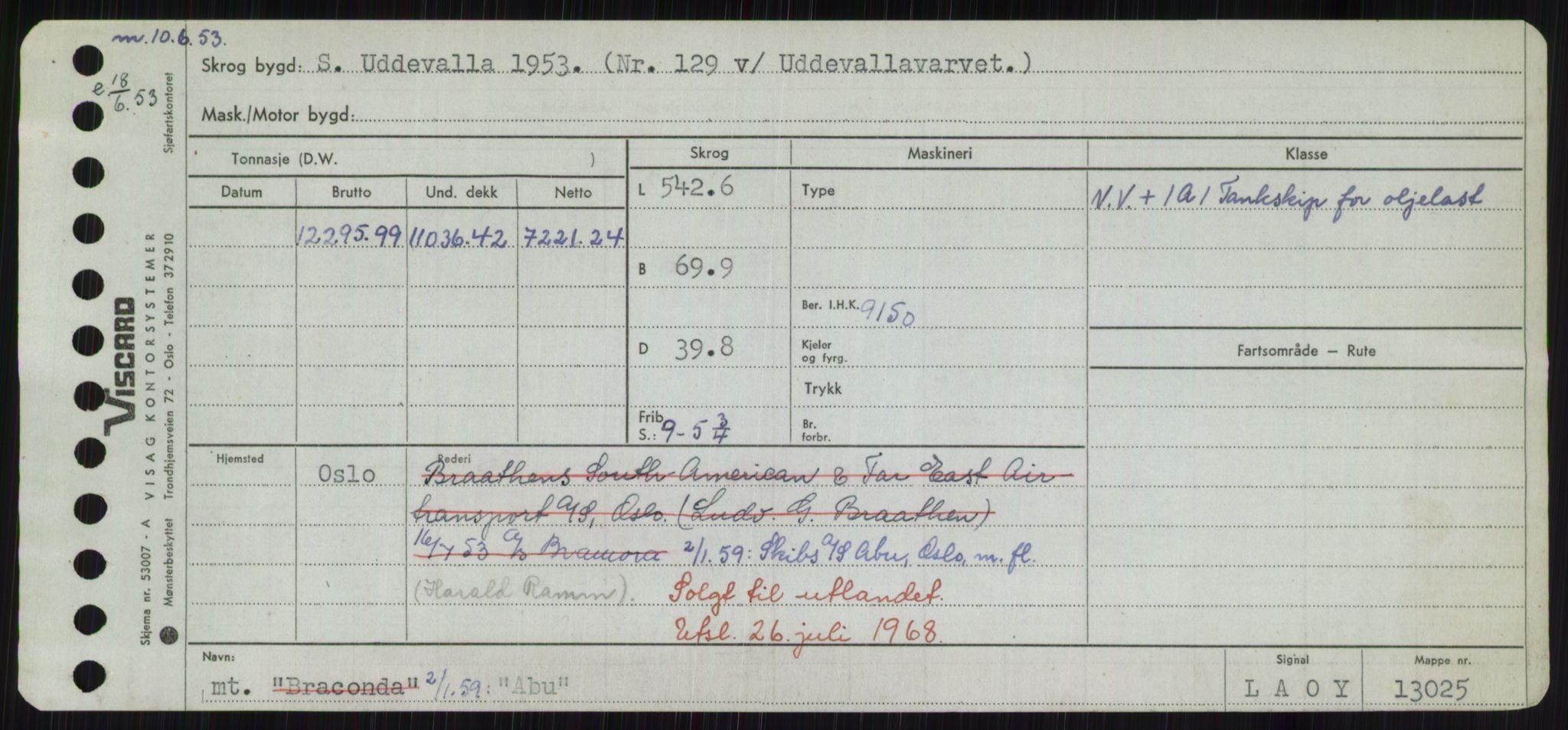 RA, Sjøfartsdirektoratet med forløpere, Skipsmålingen, H/Hd/L0001: Fartøy, A-Anv, s. 15