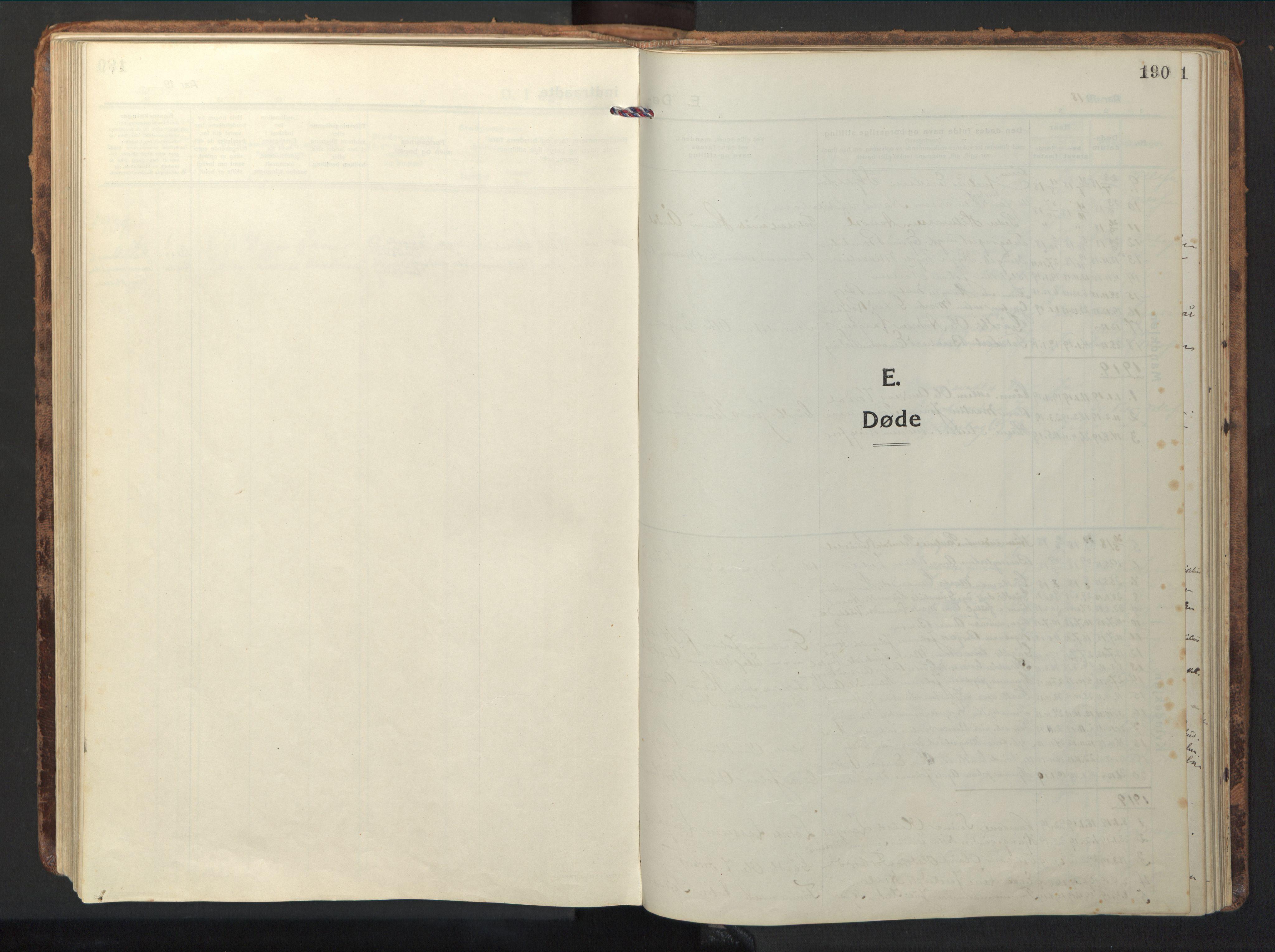 SAT, Ministerialprotokoller, klokkerbøker og fødselsregistre - Nord-Trøndelag, 714/L0136: Klokkerbok nr. 714C05, 1918-1957, s. 190
