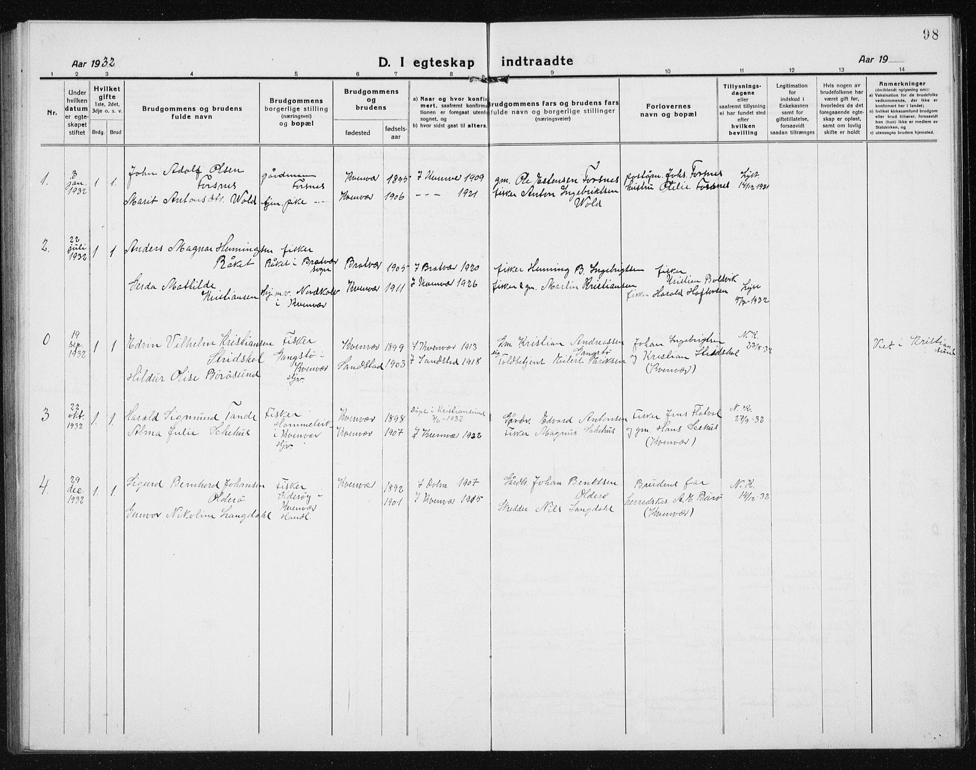 SAT, Ministerialprotokoller, klokkerbøker og fødselsregistre - Sør-Trøndelag, 635/L0554: Klokkerbok nr. 635C02, 1919-1942, s. 98