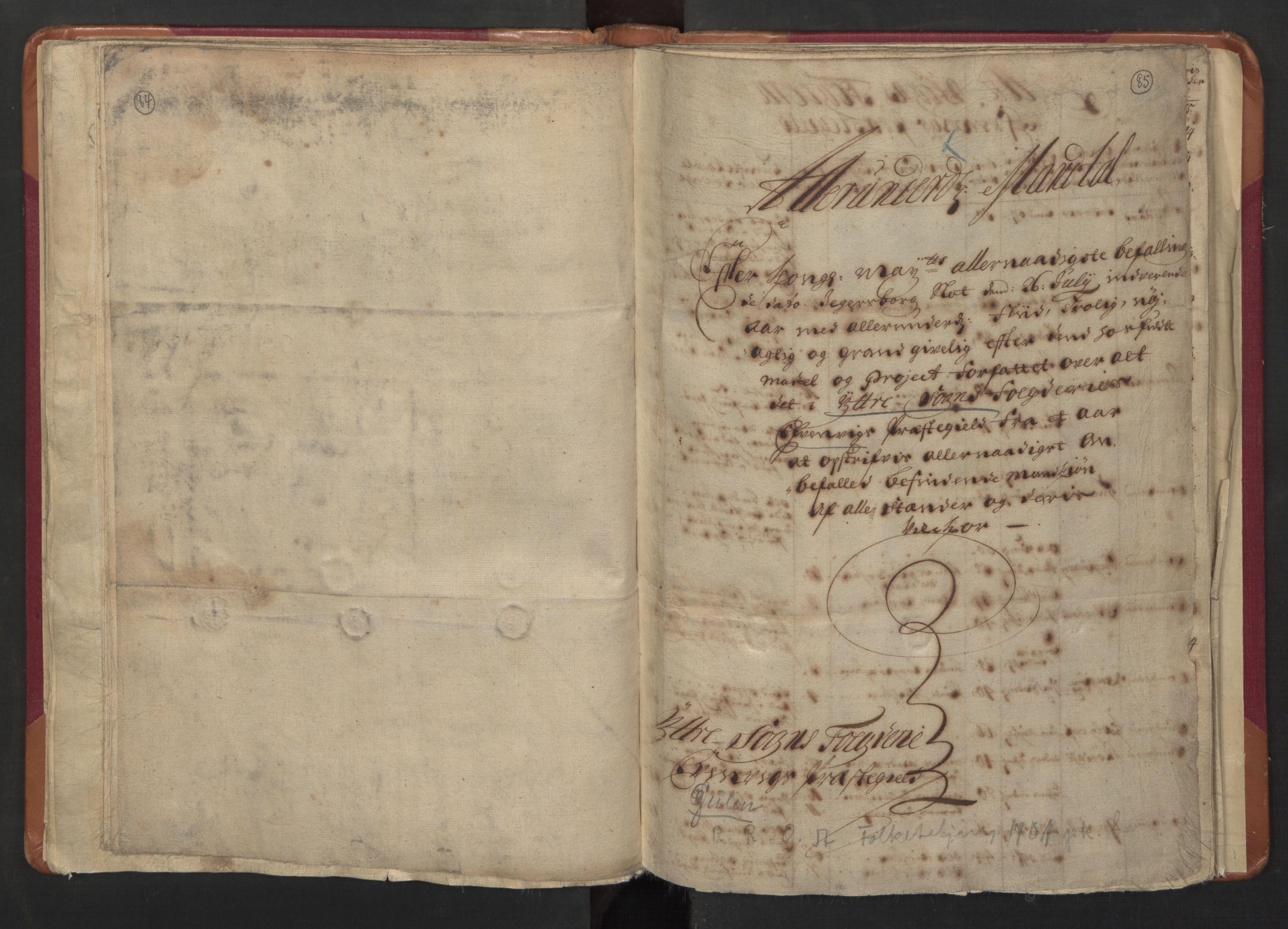RA, Manntallet 1701, nr. 8: Ytre Sogn fogderi og Indre Sogn fogderi, 1701, s. 84-85