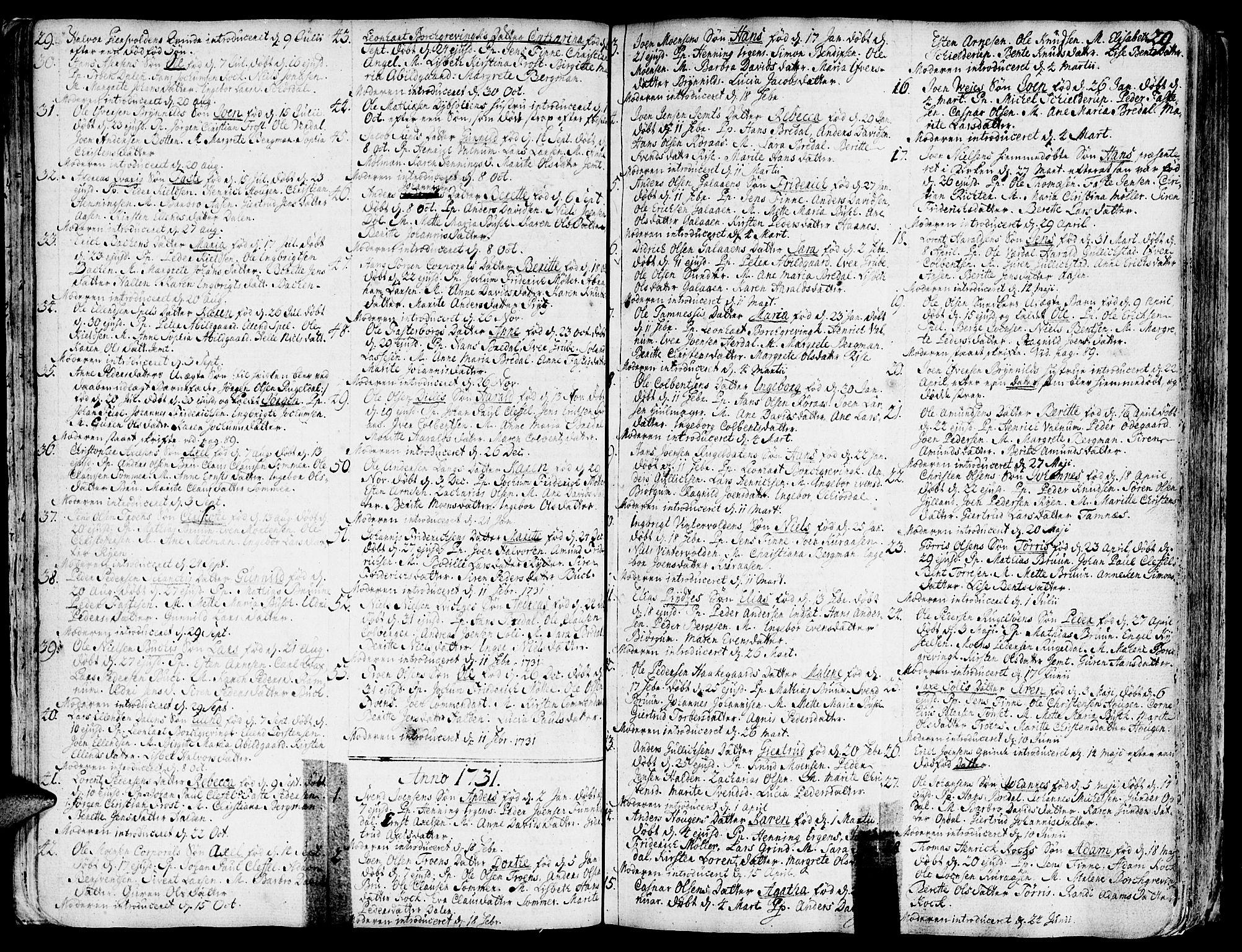 SAT, Ministerialprotokoller, klokkerbøker og fødselsregistre - Sør-Trøndelag, 681/L0925: Ministerialbok nr. 681A03, 1727-1766, s. 29