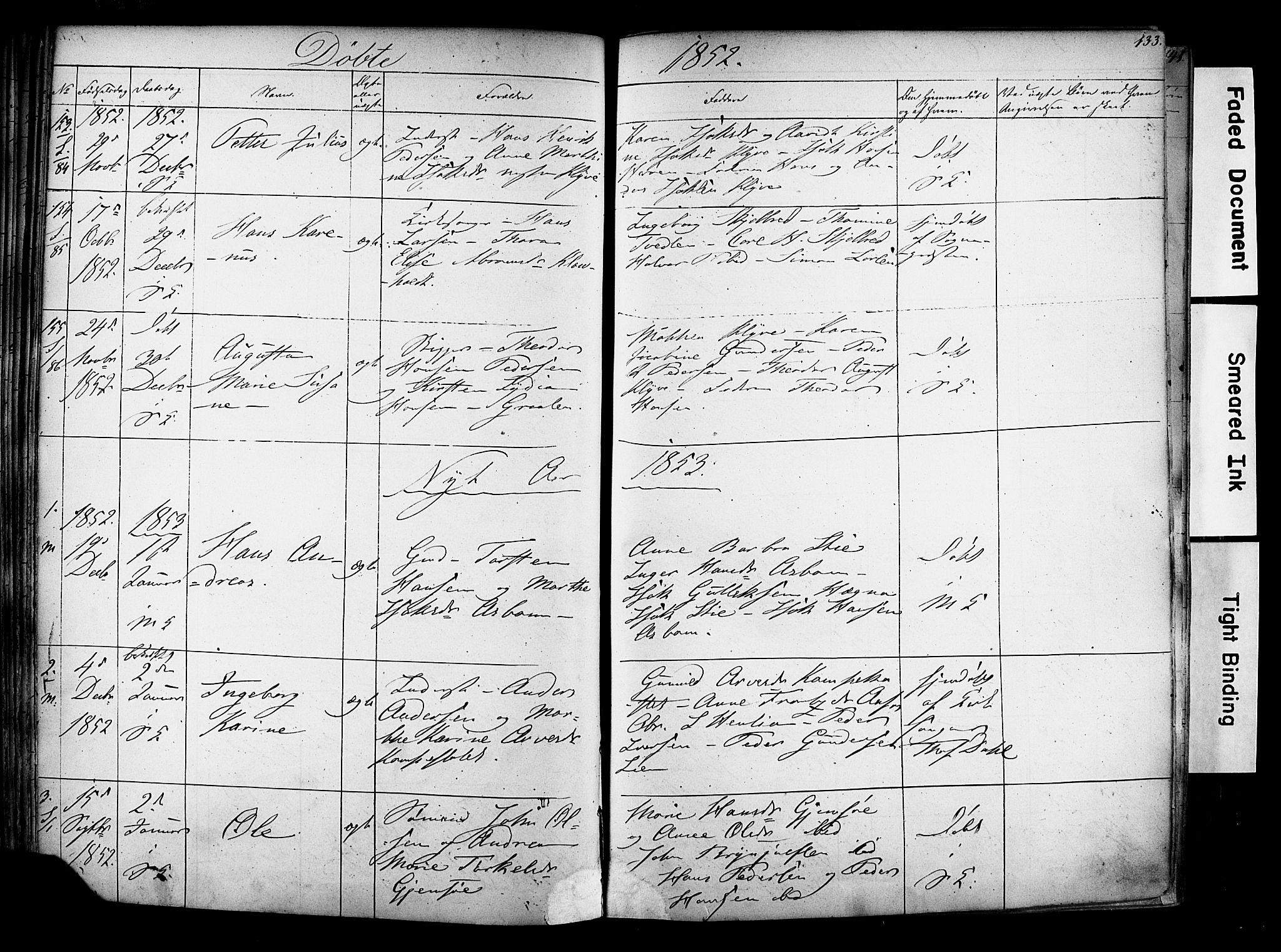 SAKO, Solum kirkebøker, F/Fa/L0006: Ministerialbok nr. I 6, 1844-1855, s. 133