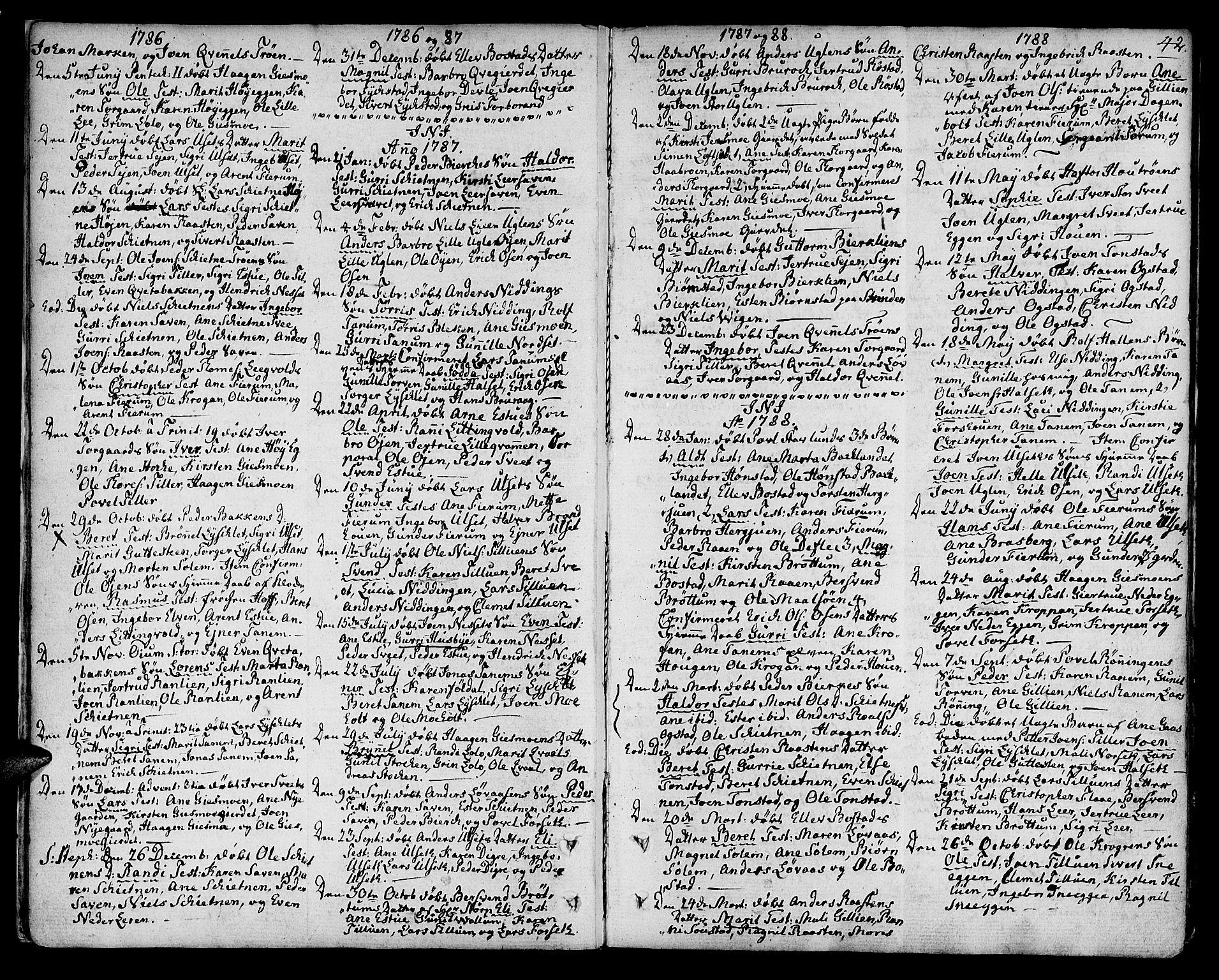 SAT, Ministerialprotokoller, klokkerbøker og fødselsregistre - Sør-Trøndelag, 618/L0438: Ministerialbok nr. 618A03, 1783-1815, s. 42