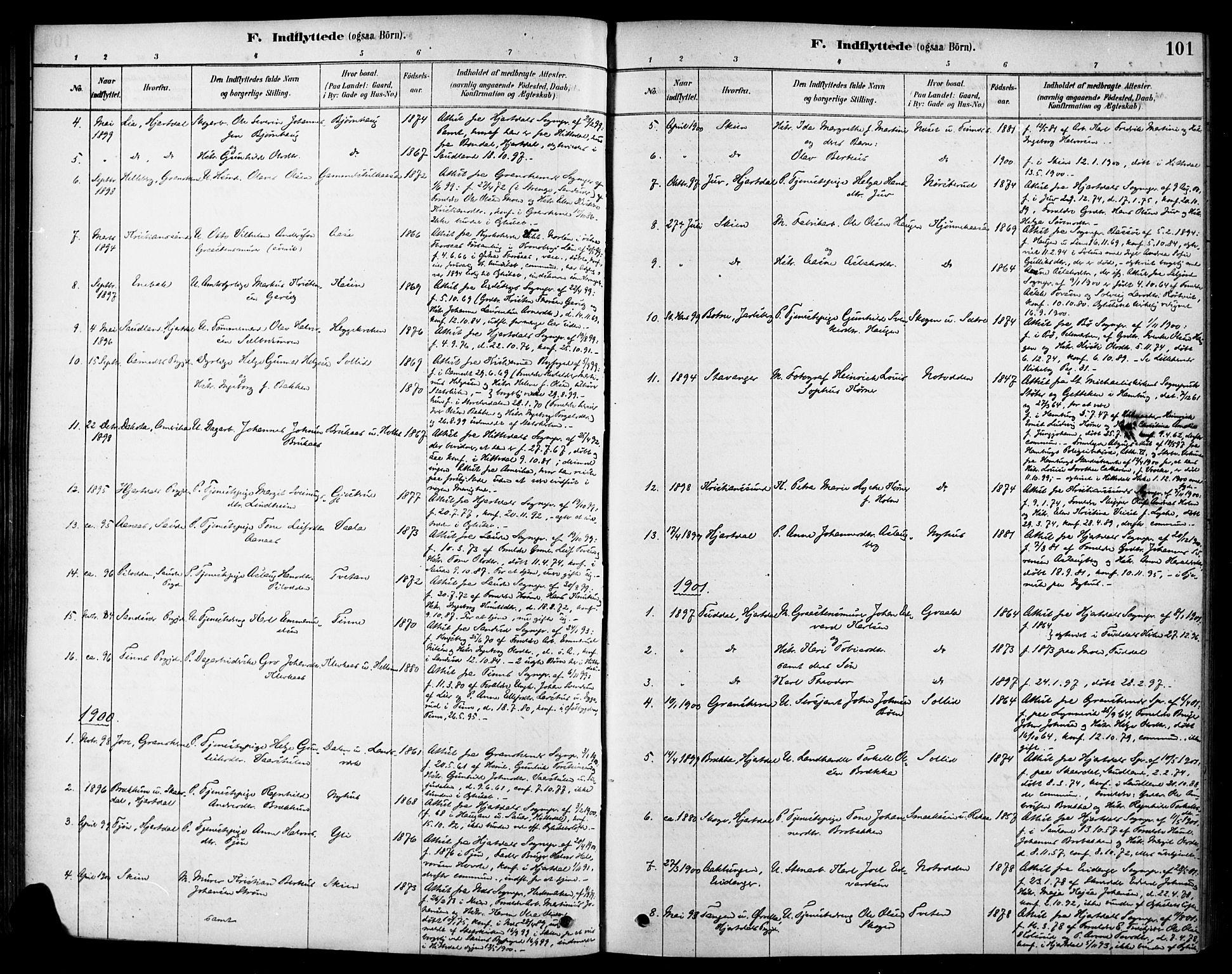 SAKO, Heddal kirkebøker, F/Fa/L0009: Ministerialbok nr. I 9, 1878-1903, s. 101