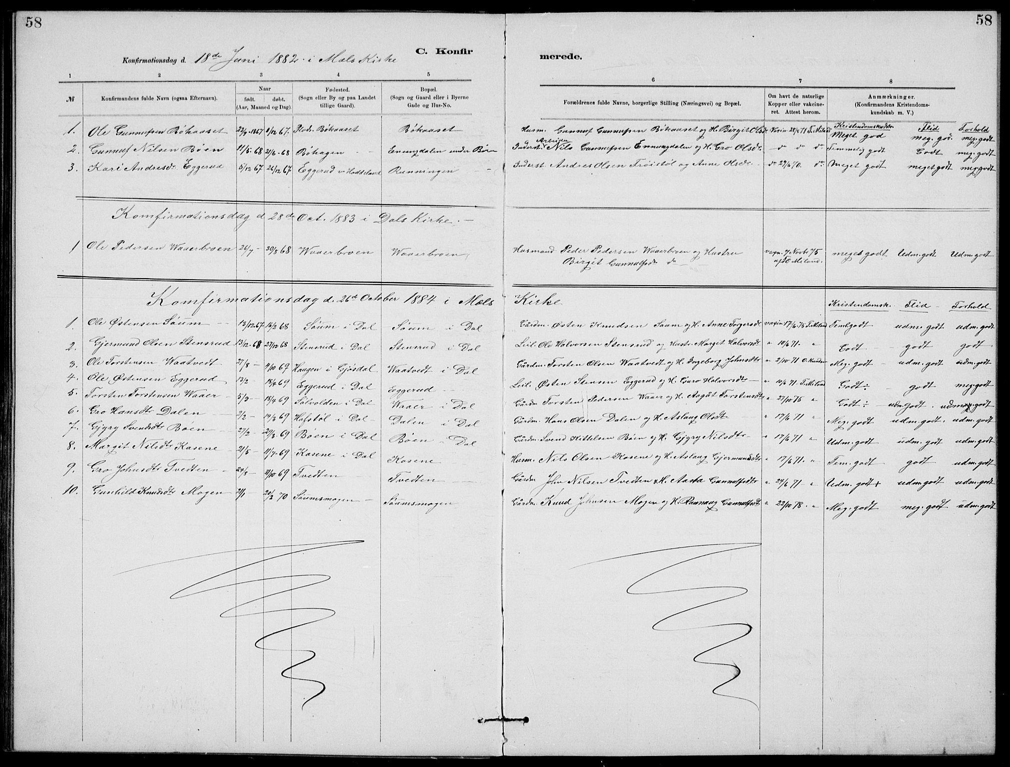 SAKO, Rjukan kirkebøker, G/Ga/L0001: Klokkerbok nr. 1, 1880-1914, s. 58