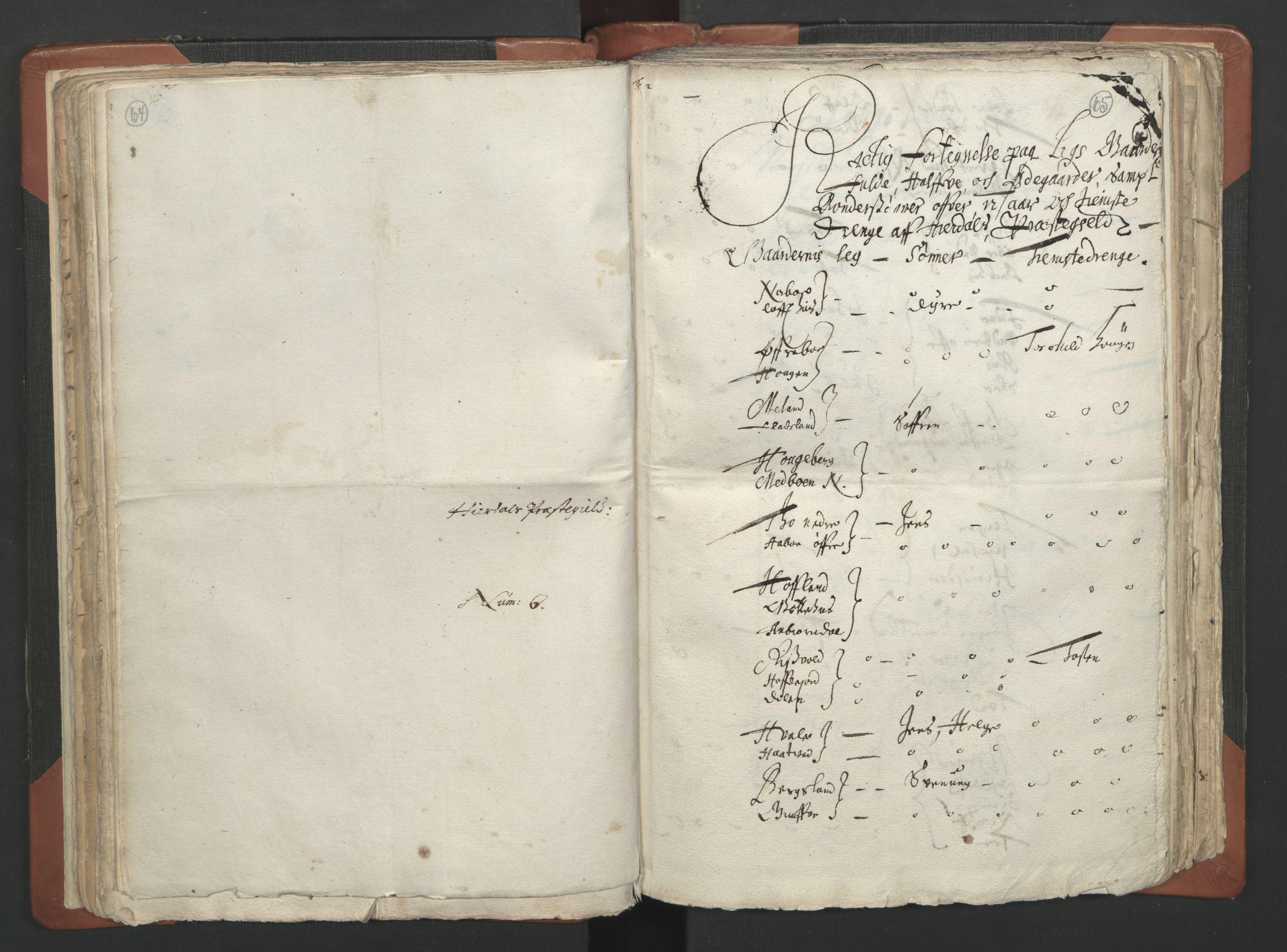 RA, Sogneprestenes manntall 1664-1666, nr. 12: Øvre Telemark prosti, Nedre Telemark prosti og Bamble prosti, 1664-1666, s. 64-65