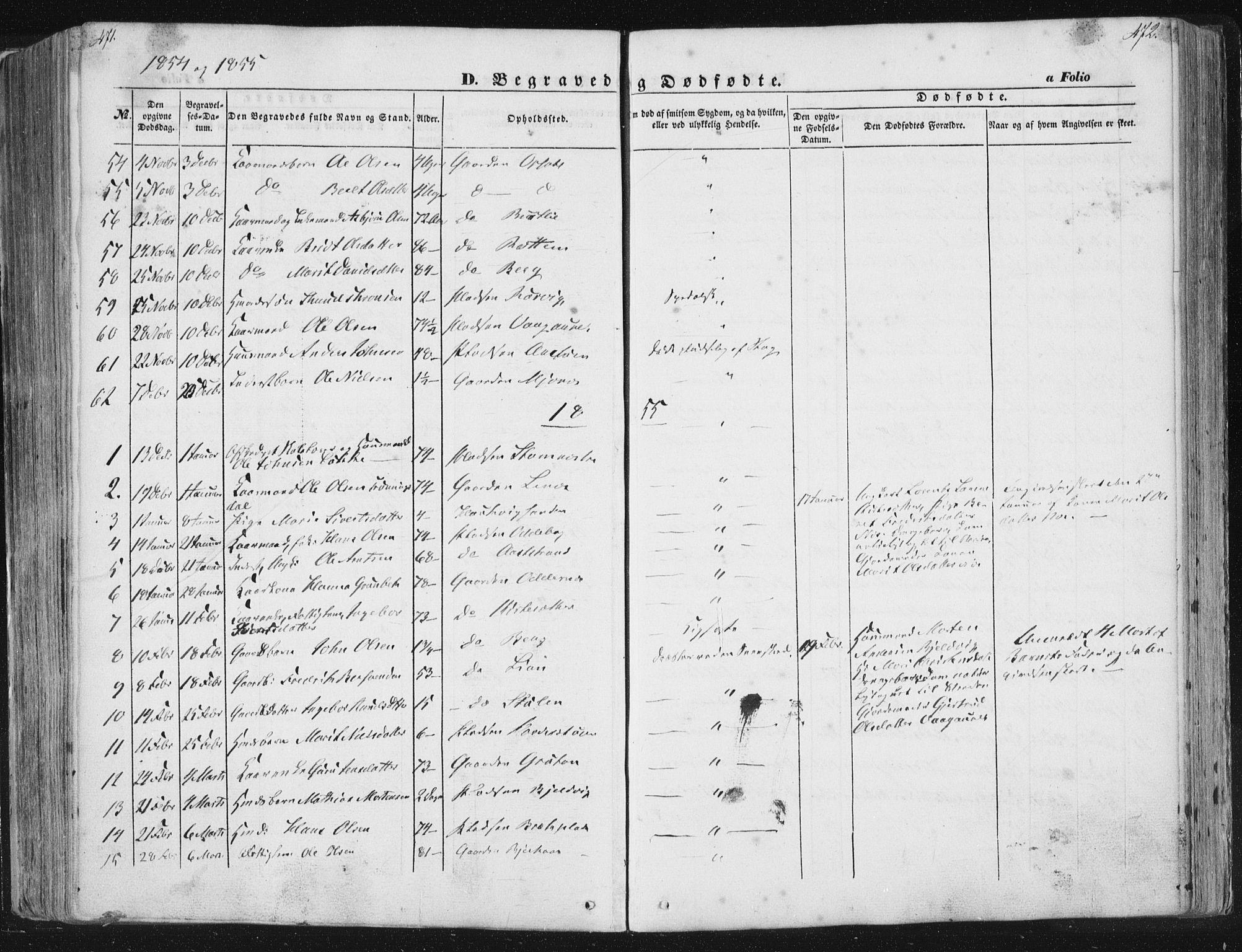 SAT, Ministerialprotokoller, klokkerbøker og fødselsregistre - Sør-Trøndelag, 630/L0494: Ministerialbok nr. 630A07, 1852-1868, s. 471-472