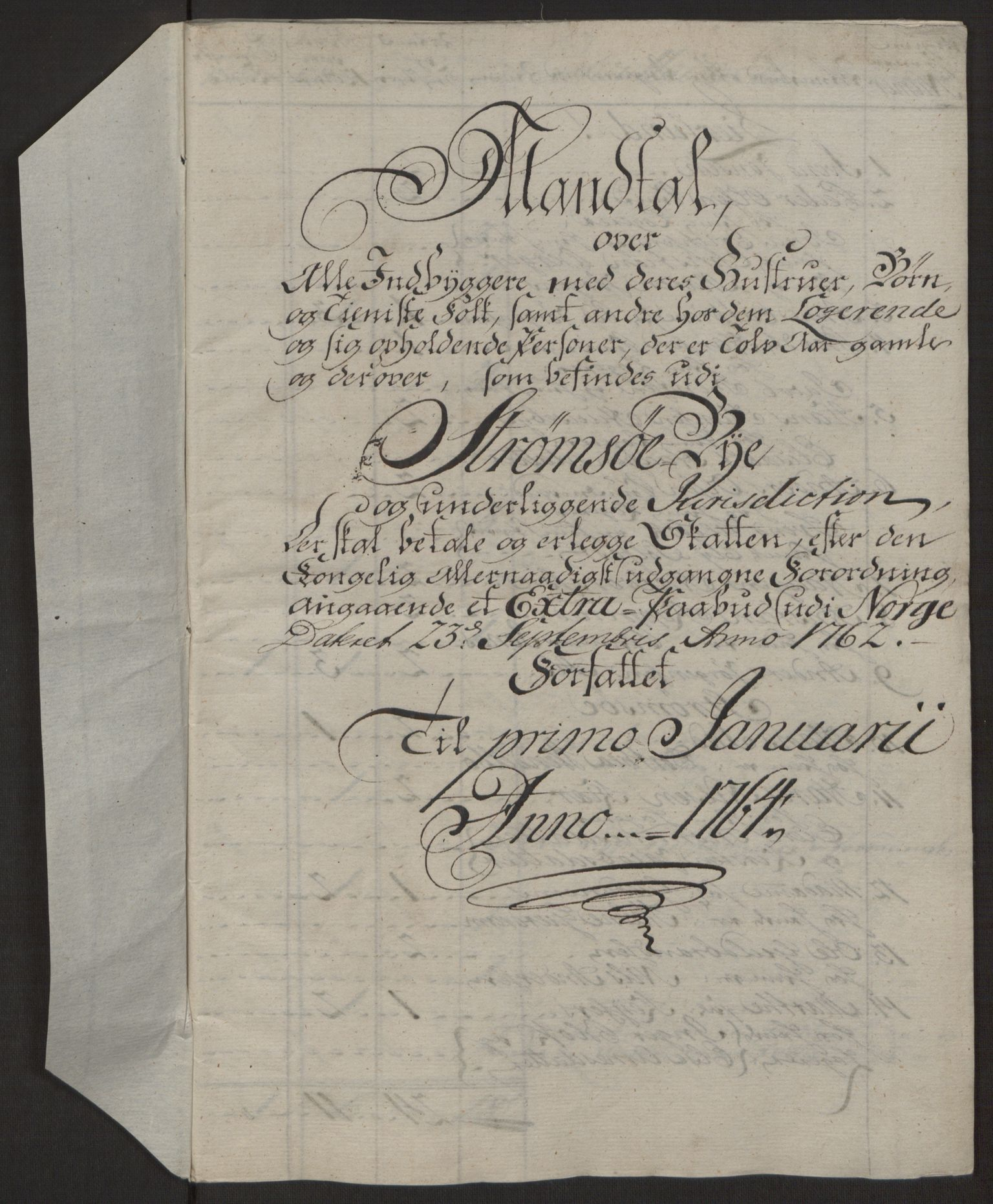 RA, Rentekammeret inntil 1814, Reviderte regnskaper, Byregnskaper, R/Rg/L0144: [G4] Kontribusjonsregnskap, 1762-1767, s. 205