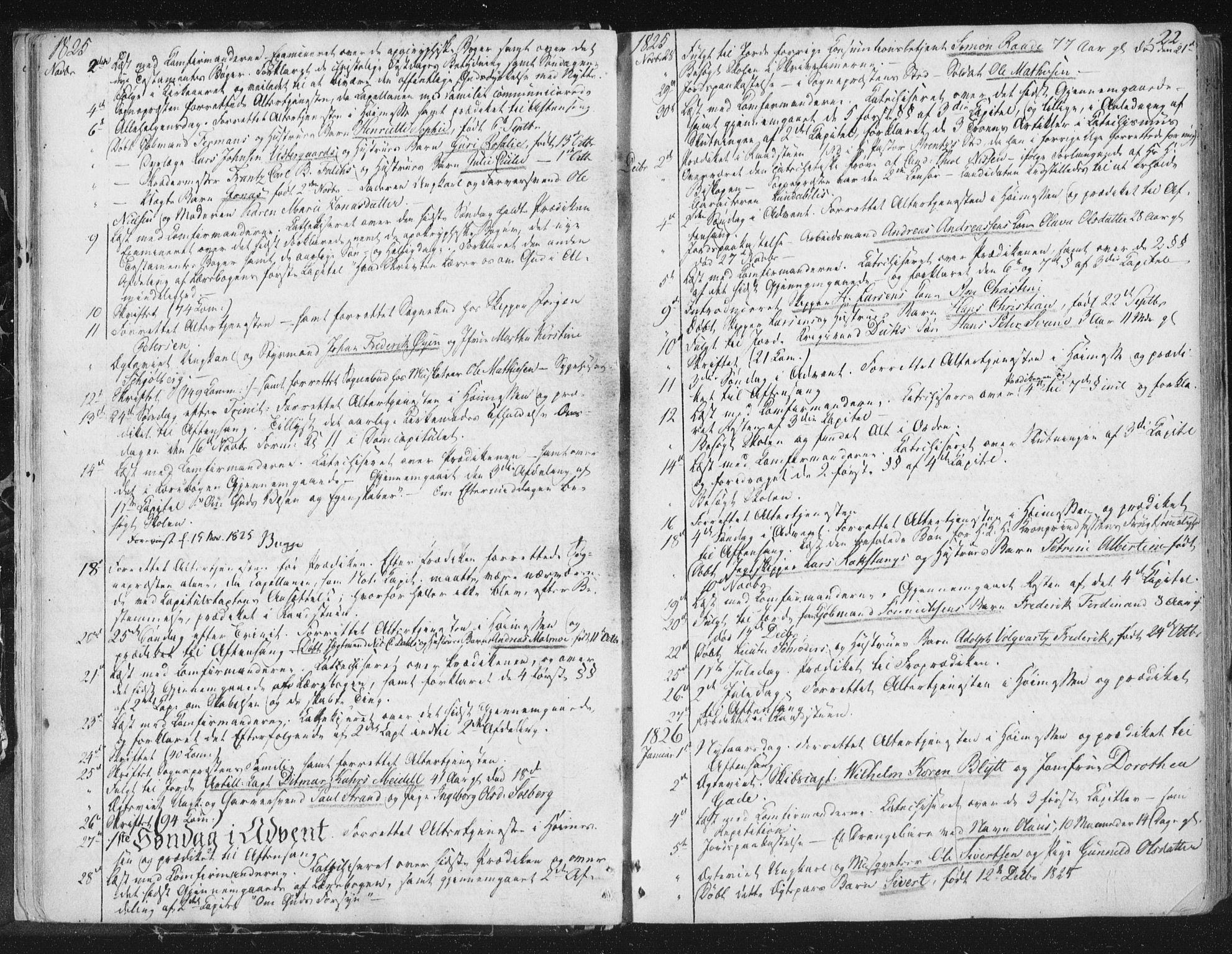 SAT, Ministerialprotokoller, klokkerbøker og fødselsregistre - Sør-Trøndelag, 602/L0127: Residerende kapellans bok nr. 602B01, 1821-1875, s. 22