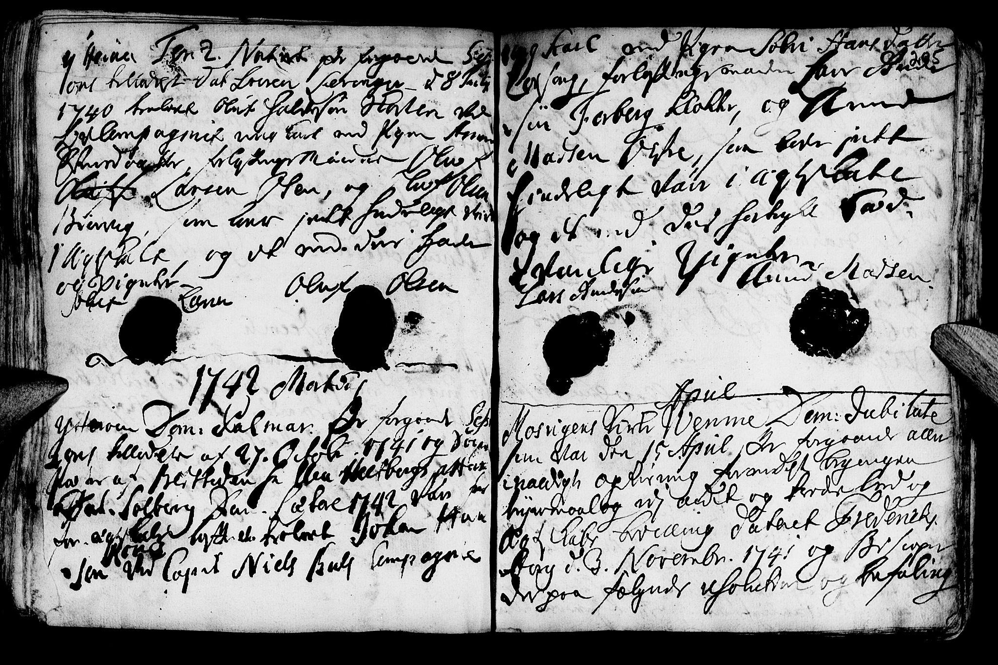 SAT, Ministerialprotokoller, klokkerbøker og fødselsregistre - Nord-Trøndelag, 722/L0215: Ministerialbok nr. 722A02, 1718-1755, s. 205