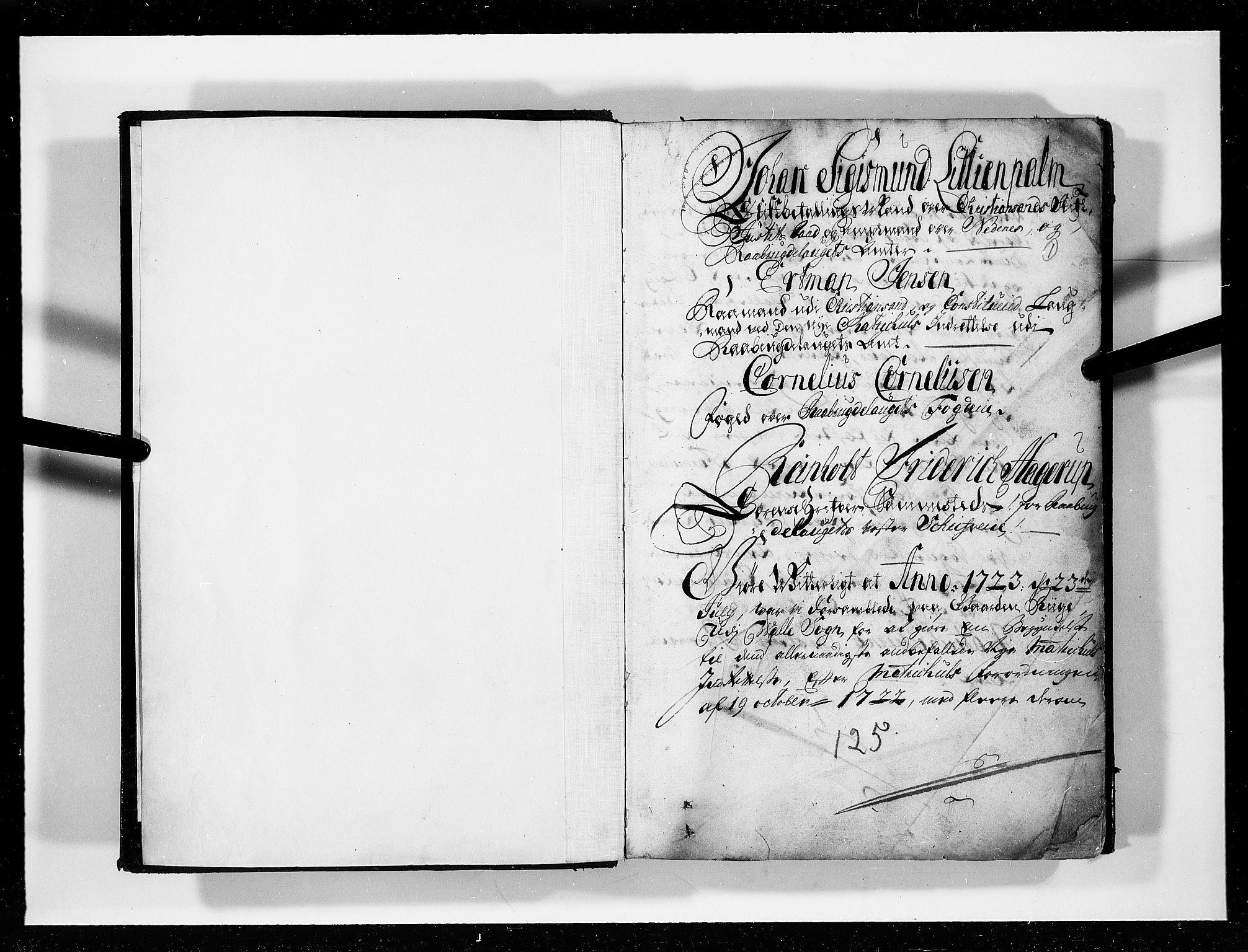RA, Rentekammeret inntil 1814, Realistisk ordnet avdeling, N/Nb/Nbf/L0125: Råbyggelag eksaminasjonsprotokoll, 1723, s. 1a