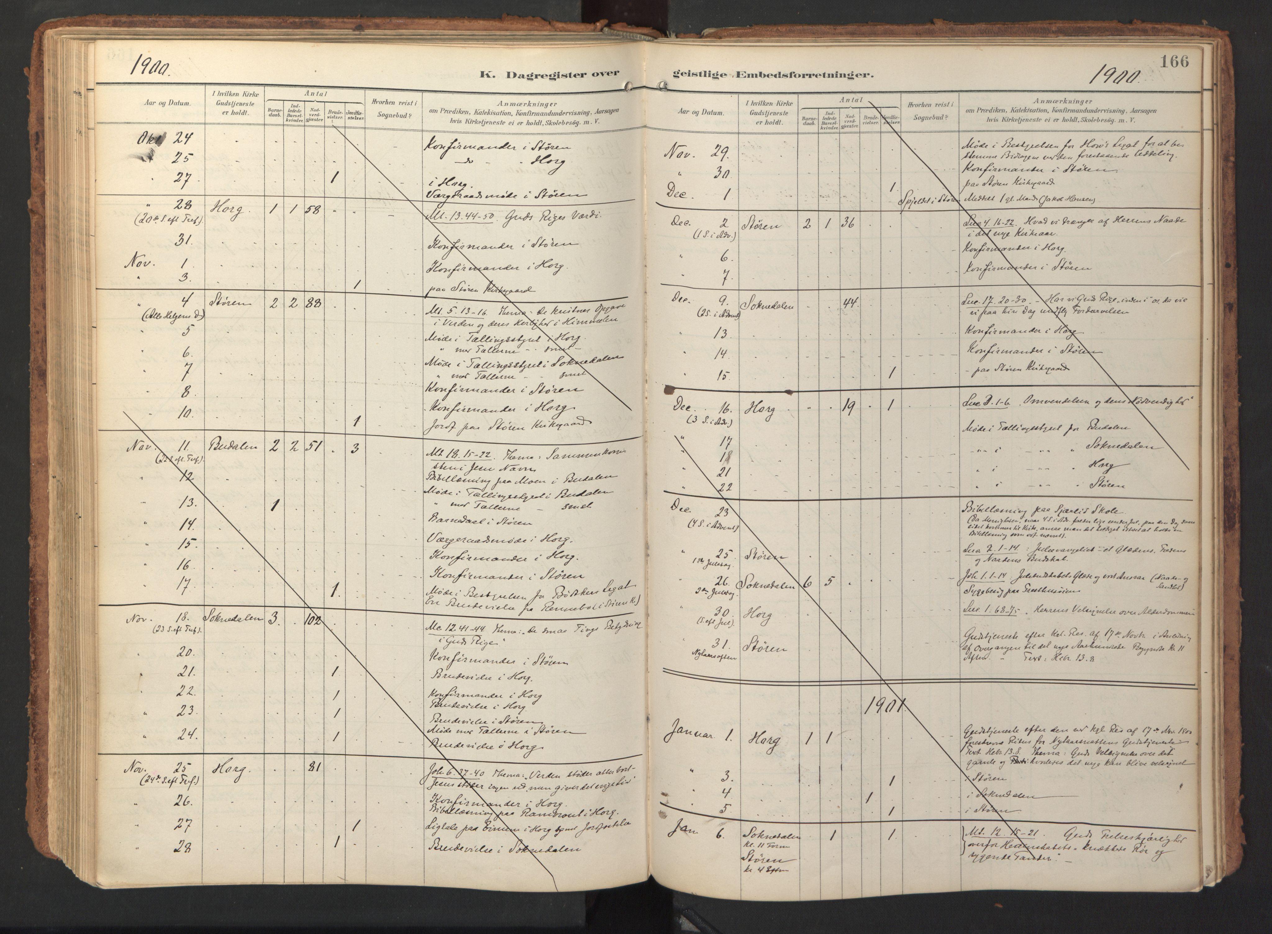 SAT, Ministerialprotokoller, klokkerbøker og fødselsregistre - Sør-Trøndelag, 690/L1050: Ministerialbok nr. 690A01, 1889-1929, s. 166