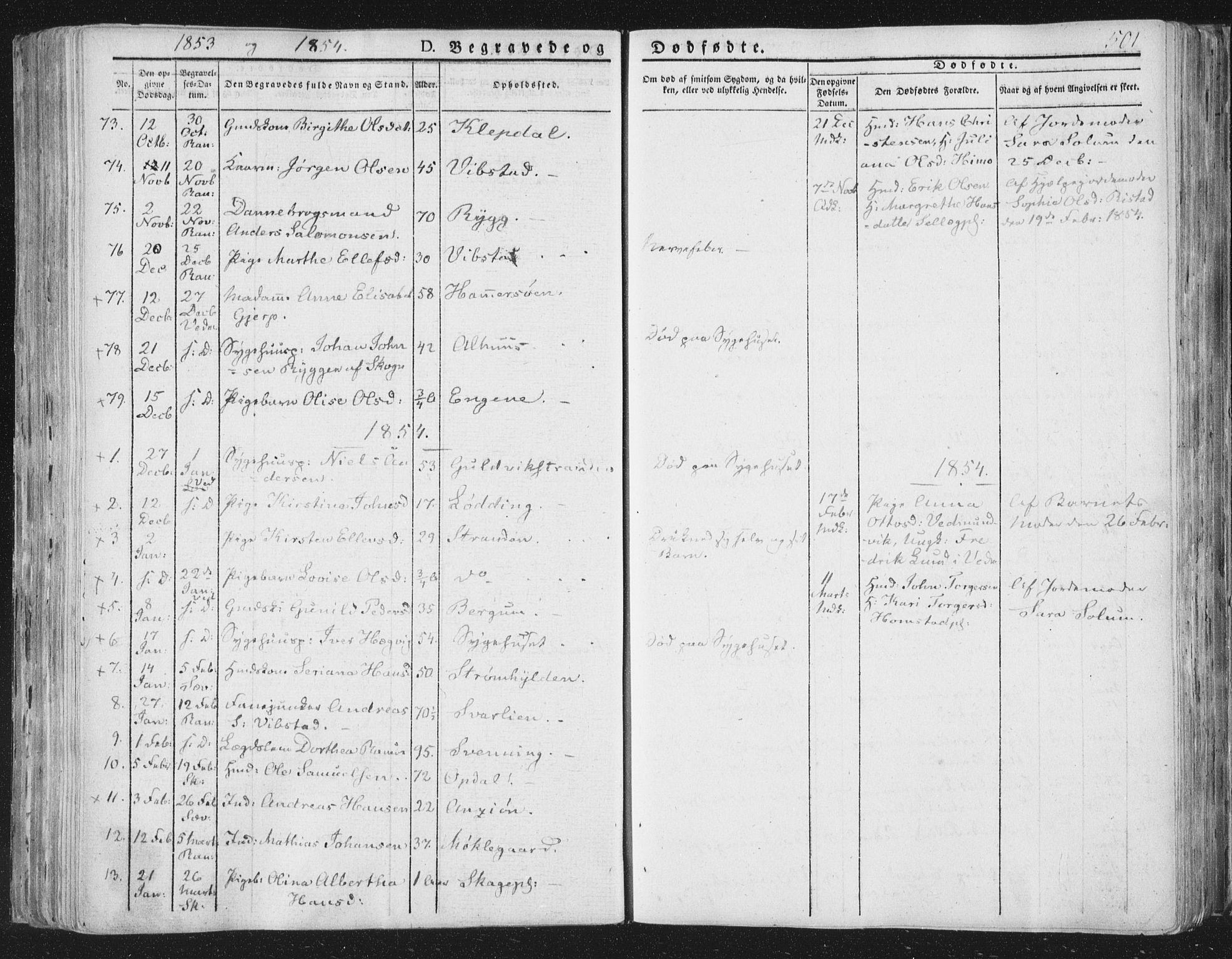 SAT, Ministerialprotokoller, klokkerbøker og fødselsregistre - Nord-Trøndelag, 764/L0552: Ministerialbok nr. 764A07b, 1824-1865, s. 501