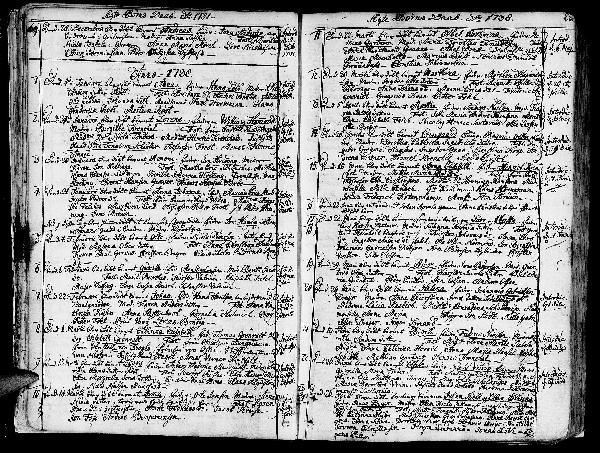 SAT, Ministerialprotokoller, klokkerbøker og fødselsregistre - Sør-Trøndelag, 602/L0103: Ministerialbok nr. 602A01, 1732-1774, s. 22