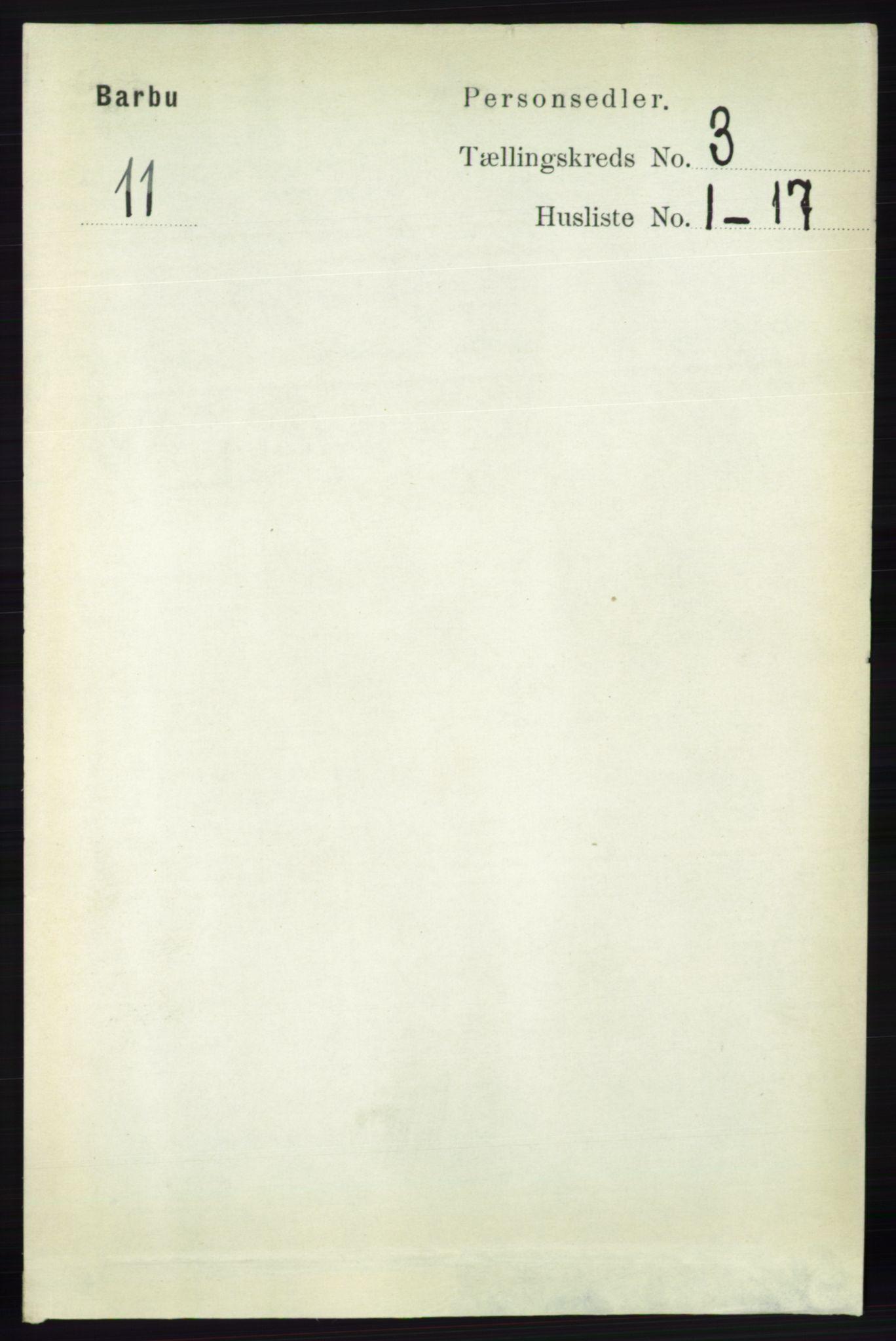 RA, Folketelling 1891 for 0990 Barbu herred, 1891, s. 1462