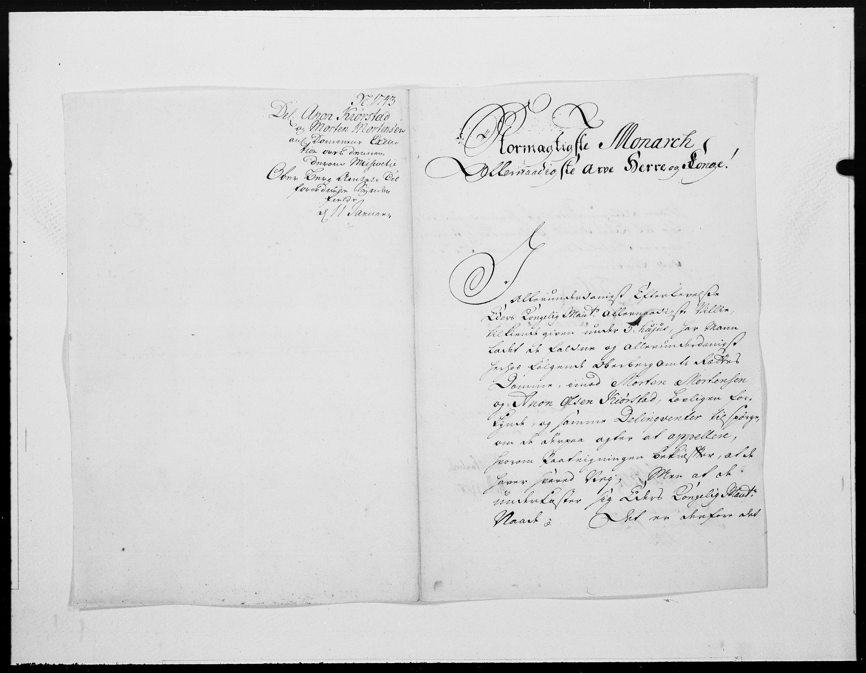 RA, Danske Kanselli 1572-1799, F/Fc/Fcc/Fcca/L0137: Norske innlegg 1572-1799, 1743, s. 31