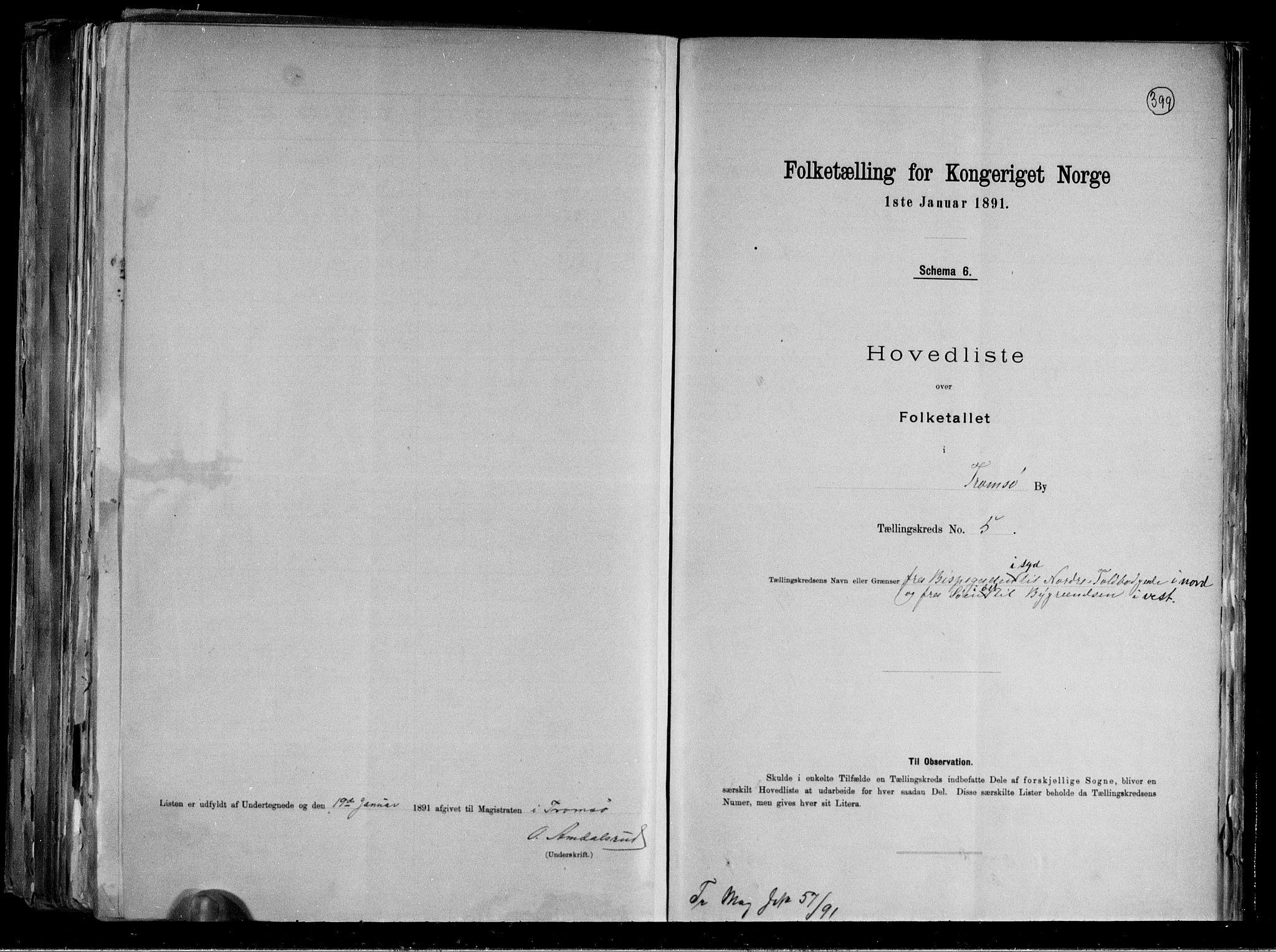 RA, Folketelling 1891 for 1902 Tromsø kjøpstad, 1891, s. 17