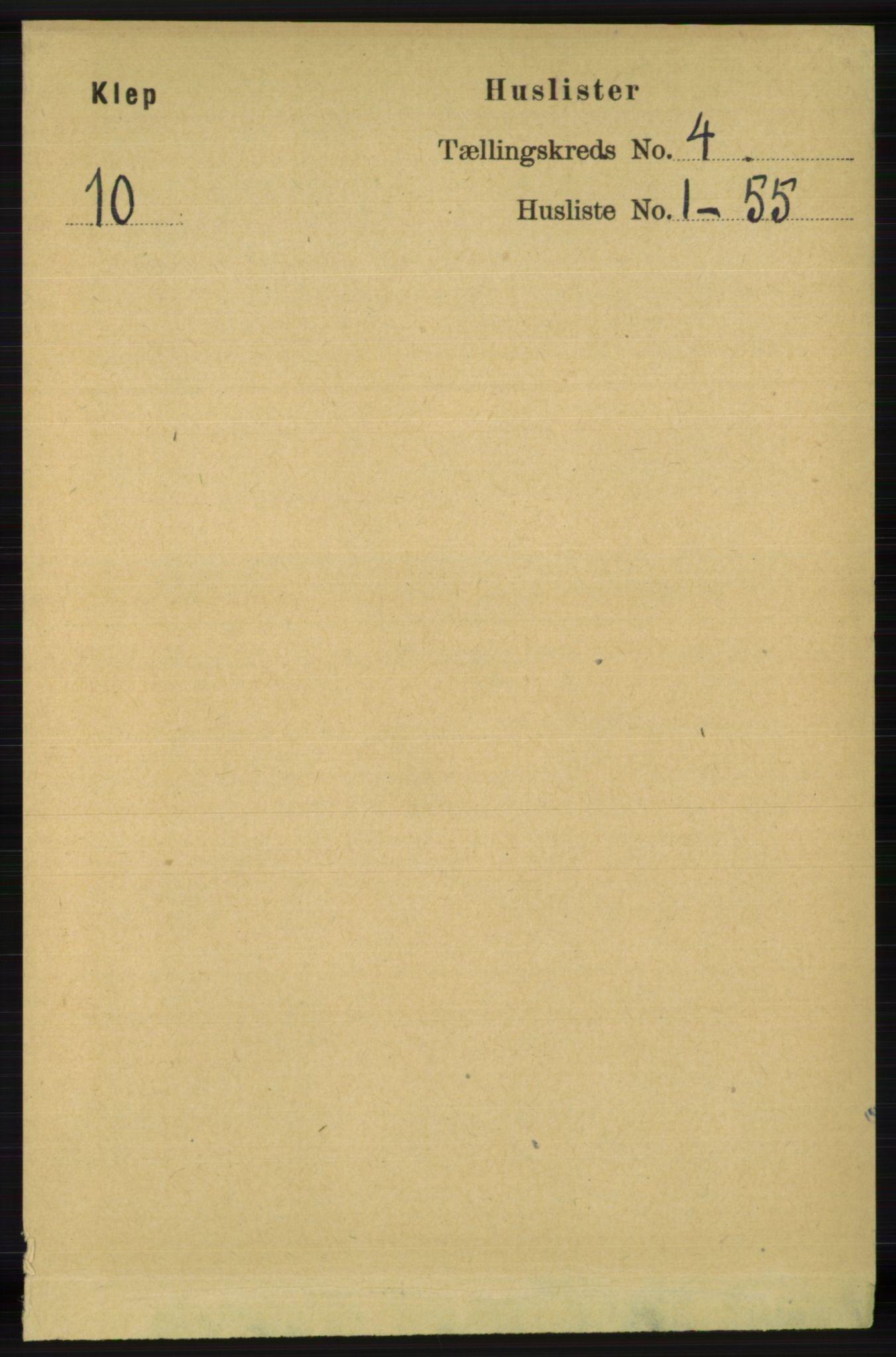 RA, Folketelling 1891 for 1120 Klepp herred, 1891, s. 891