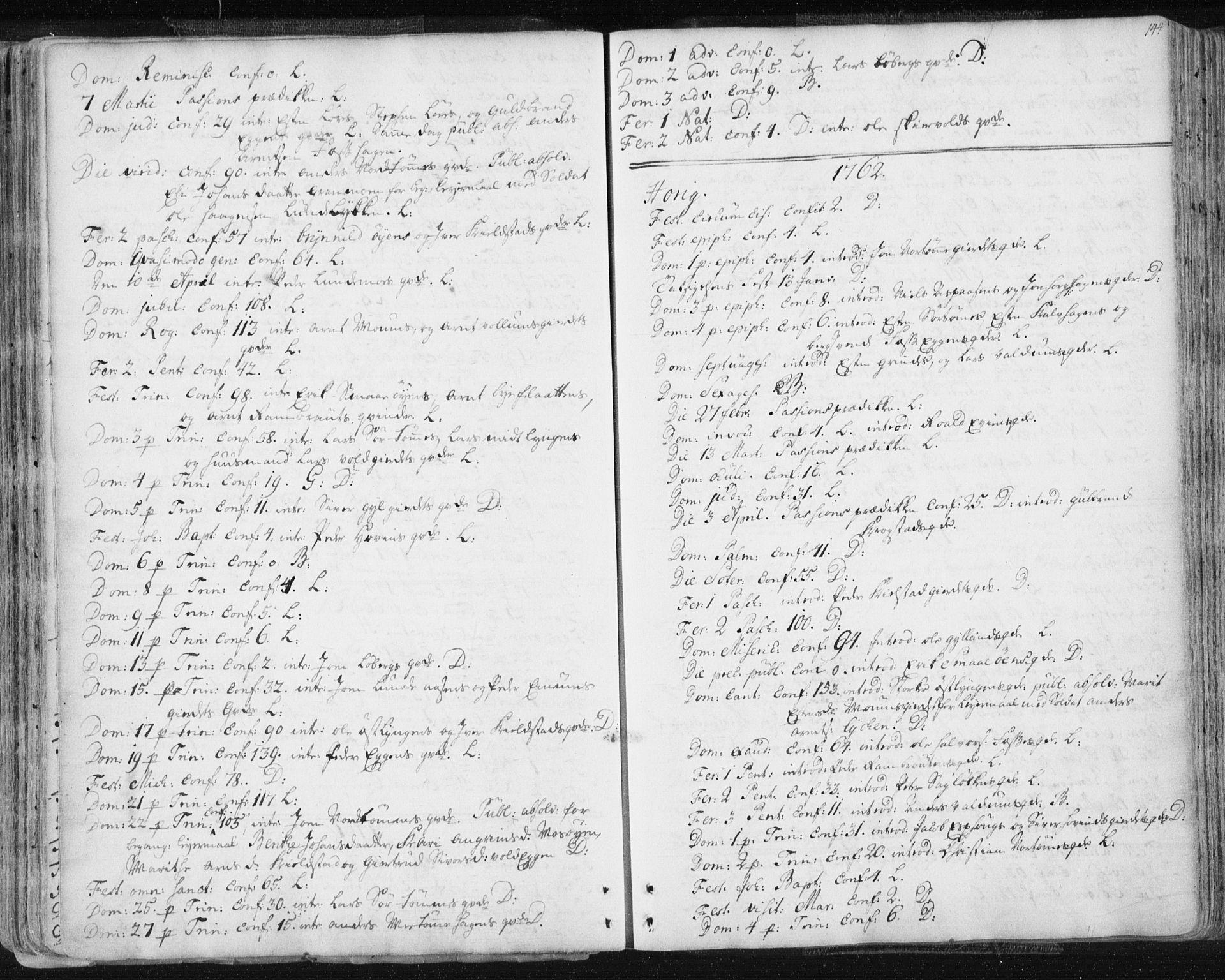 SAT, Ministerialprotokoller, klokkerbøker og fødselsregistre - Sør-Trøndelag, 687/L0991: Ministerialbok nr. 687A02, 1747-1790, s. 144