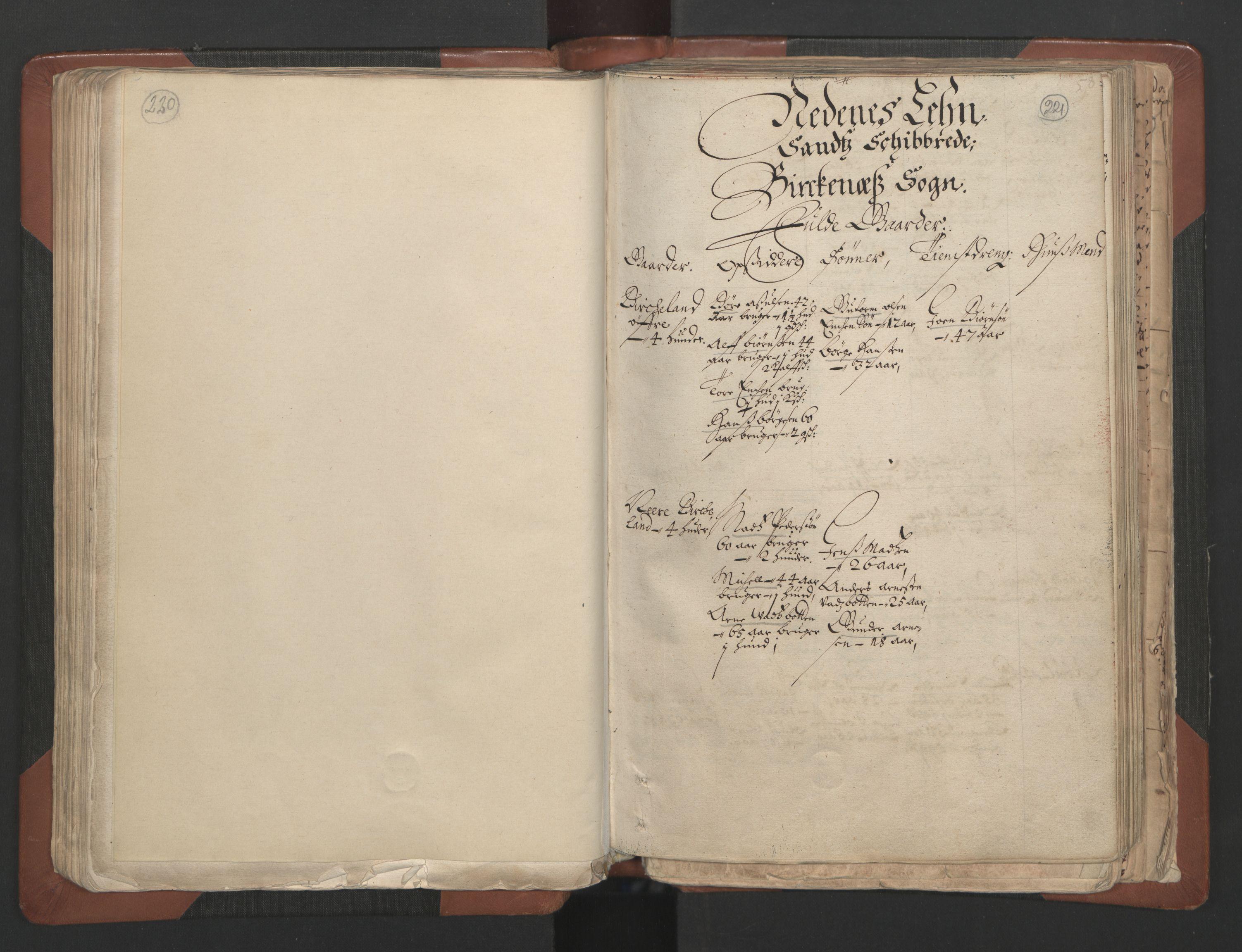 RA, Fogdenes og sorenskrivernes manntall 1664-1666, nr. 7: Nedenes fogderi, 1664-1666, s. 220-221