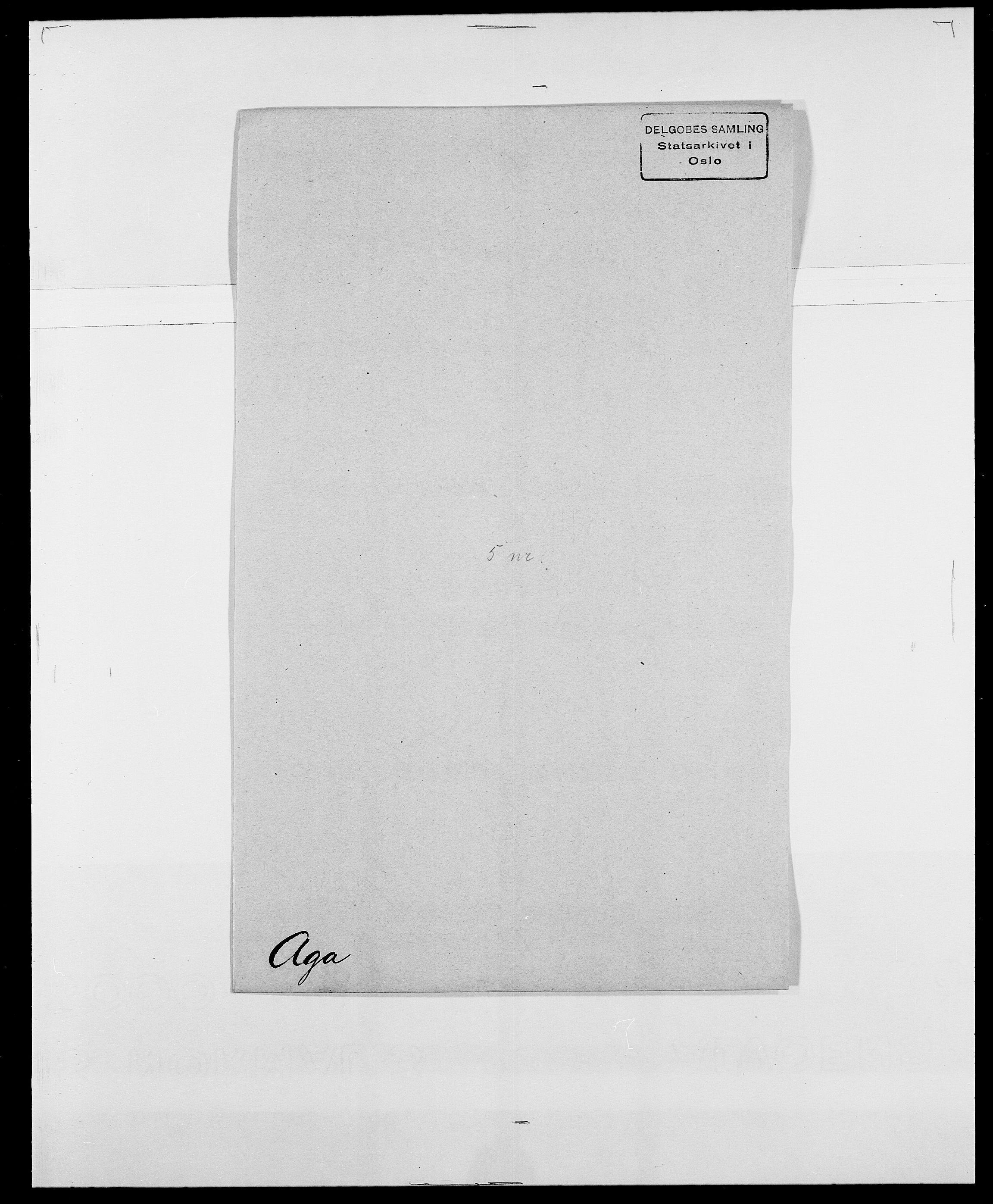 SAO, Delgobe, Charles Antoine - samling, D/Da/L0001: Aabye - Angerman, s. 283