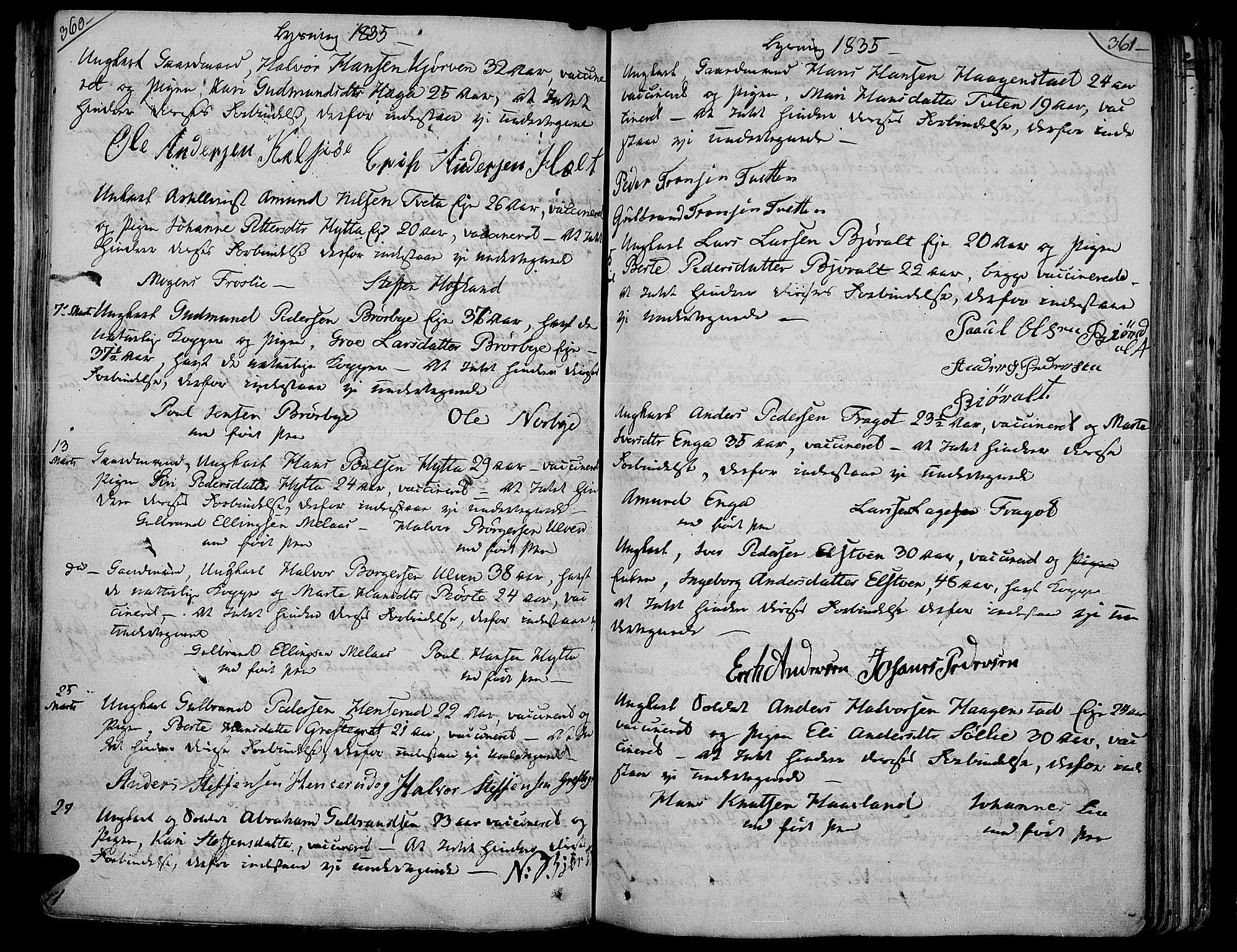 SAH, Jevnaker prestekontor, Ministerialbok nr. 4, 1800-1861, s. 360-361