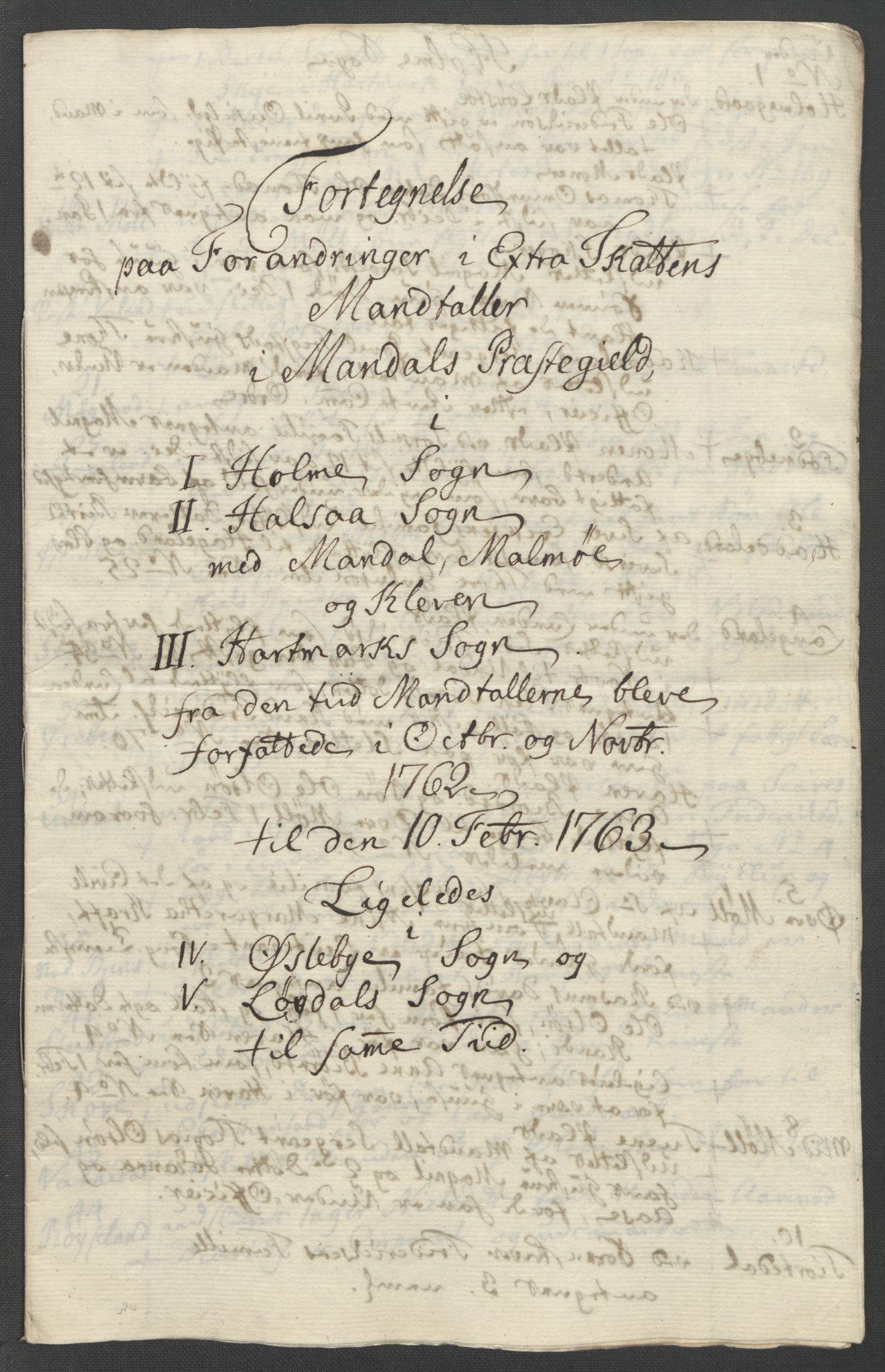 RA, Rentekammeret inntil 1814, Reviderte regnskaper, Fogderegnskap, R45/L2704: Ekstraskatten Lista og Mandal, 1762-1768, s. 168