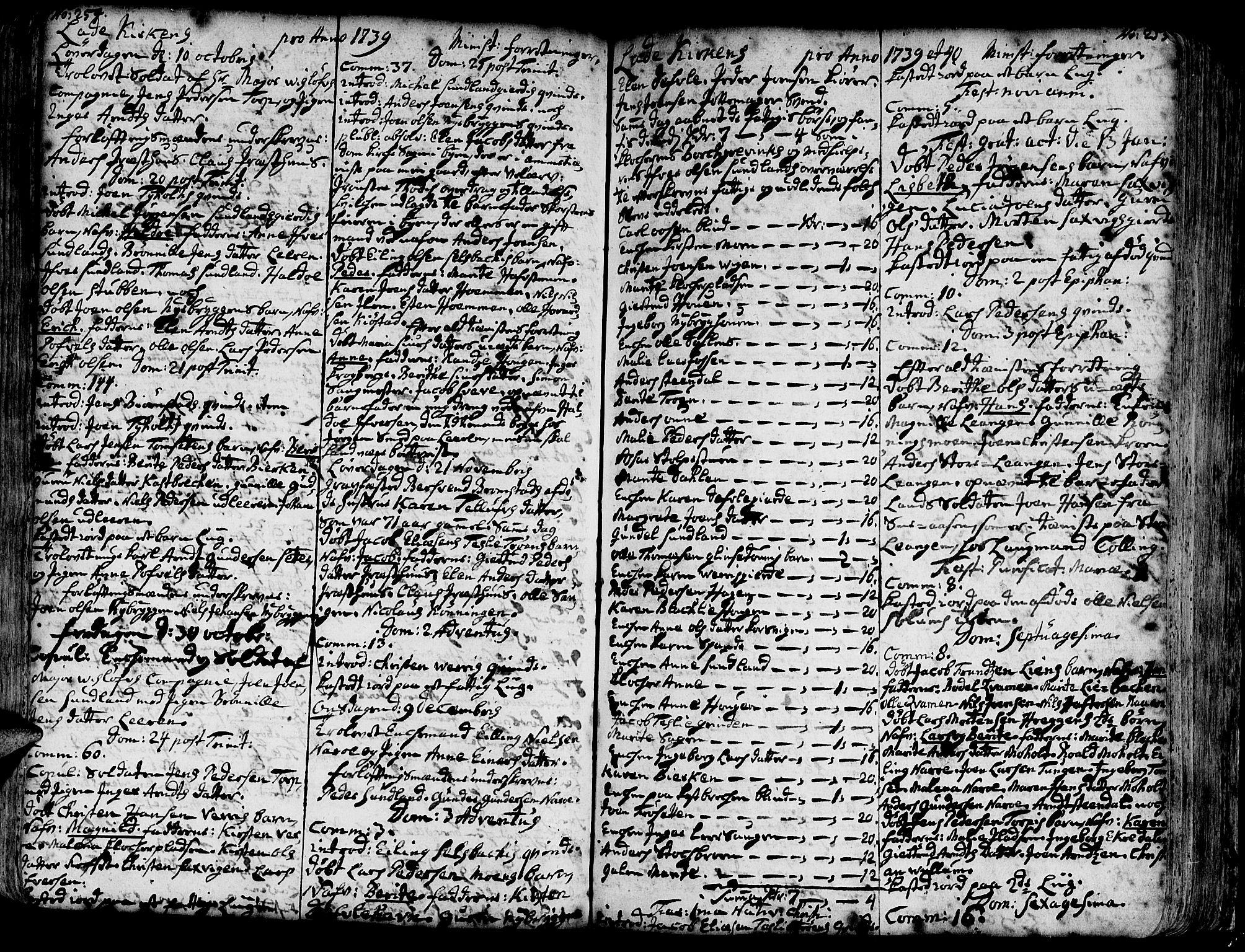 SAT, Ministerialprotokoller, klokkerbøker og fødselsregistre - Sør-Trøndelag, 606/L0275: Ministerialbok nr. 606A01 /1, 1727-1780, s. 254-255