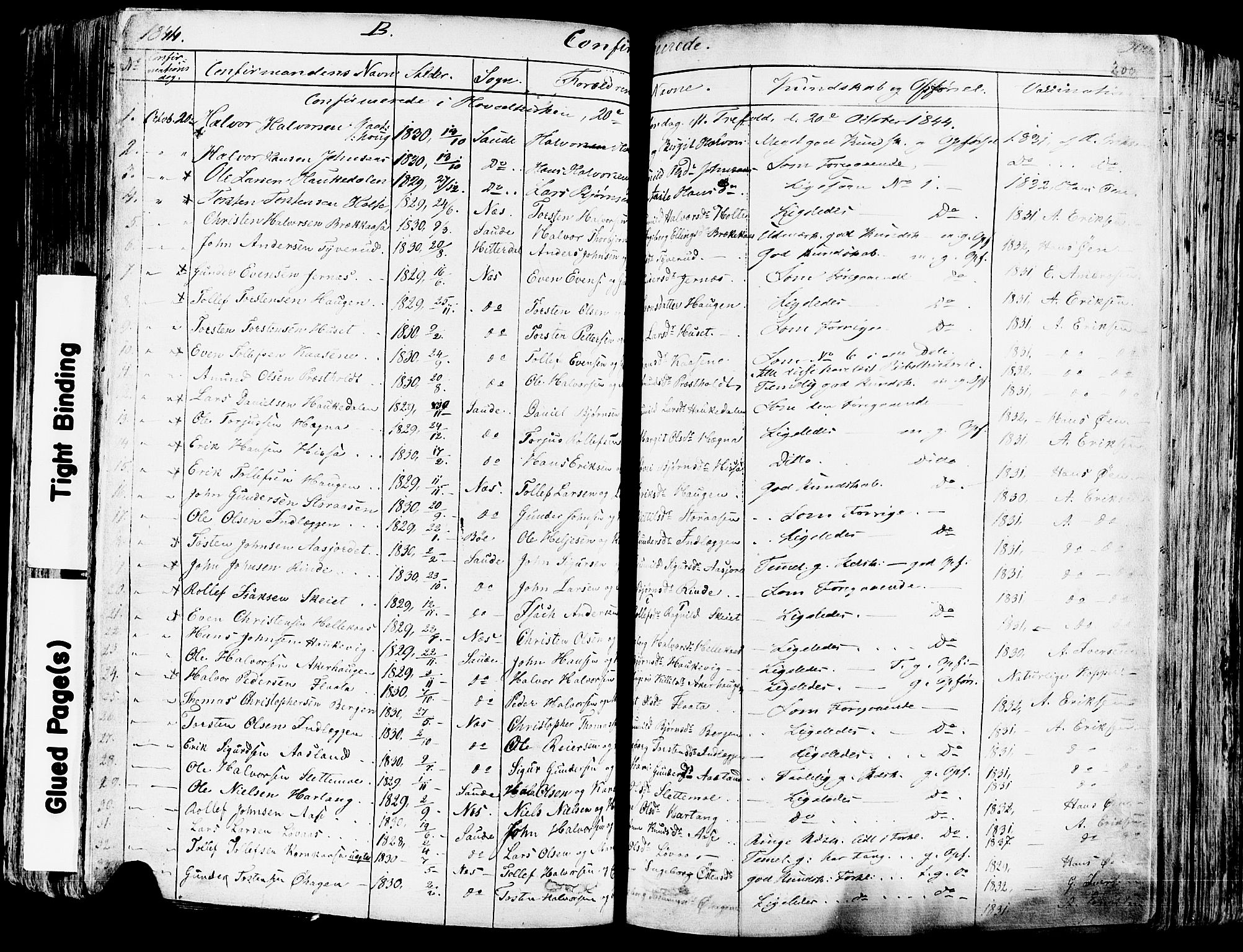SAKO, Sauherad kirkebøker, F/Fa/L0006: Ministerialbok nr. I 6, 1827-1850, s. 200