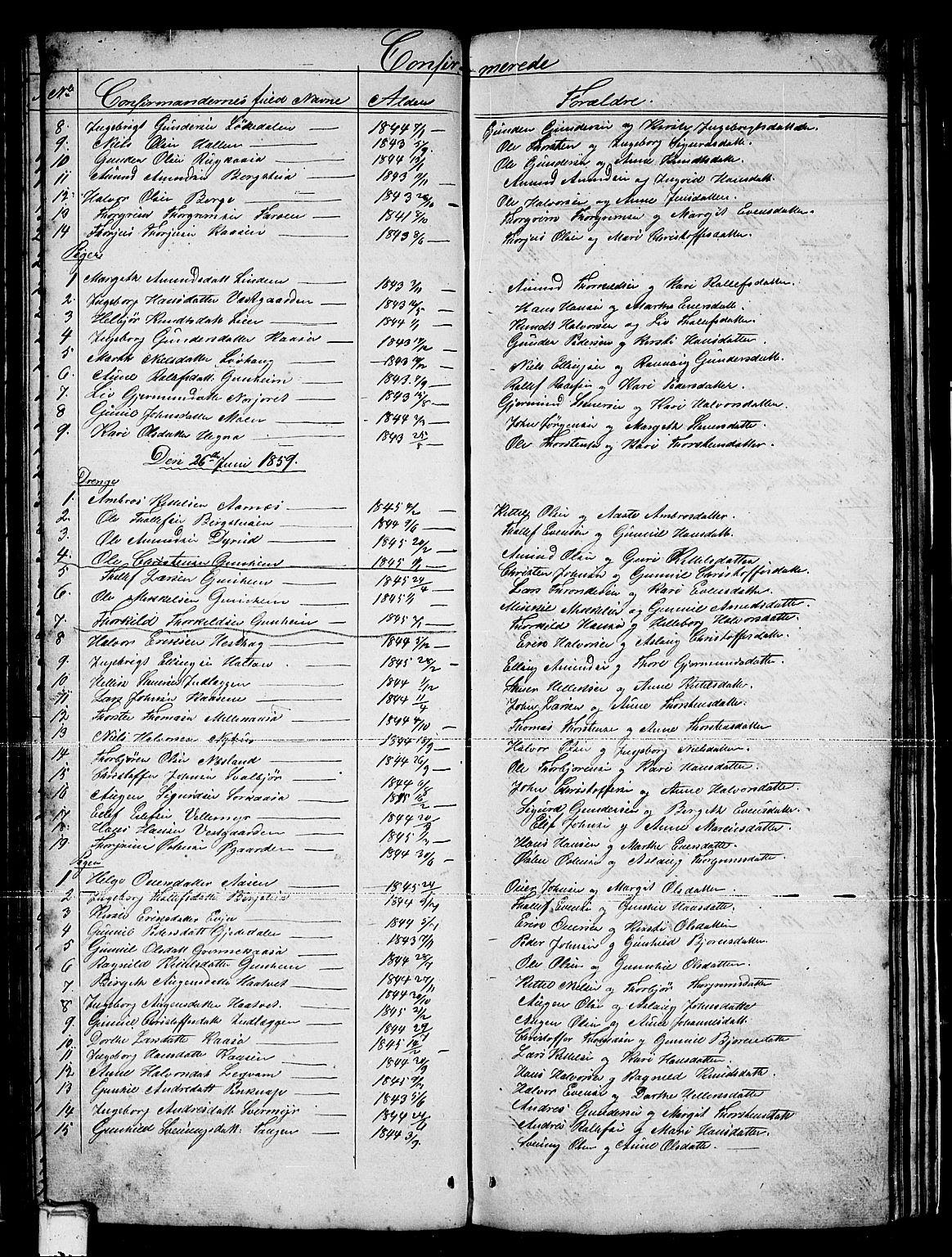 SAKO, Sauherad kirkebøker, G/Gb/L0001: Klokkerbok nr. II 1, 1845-1865, s. 67