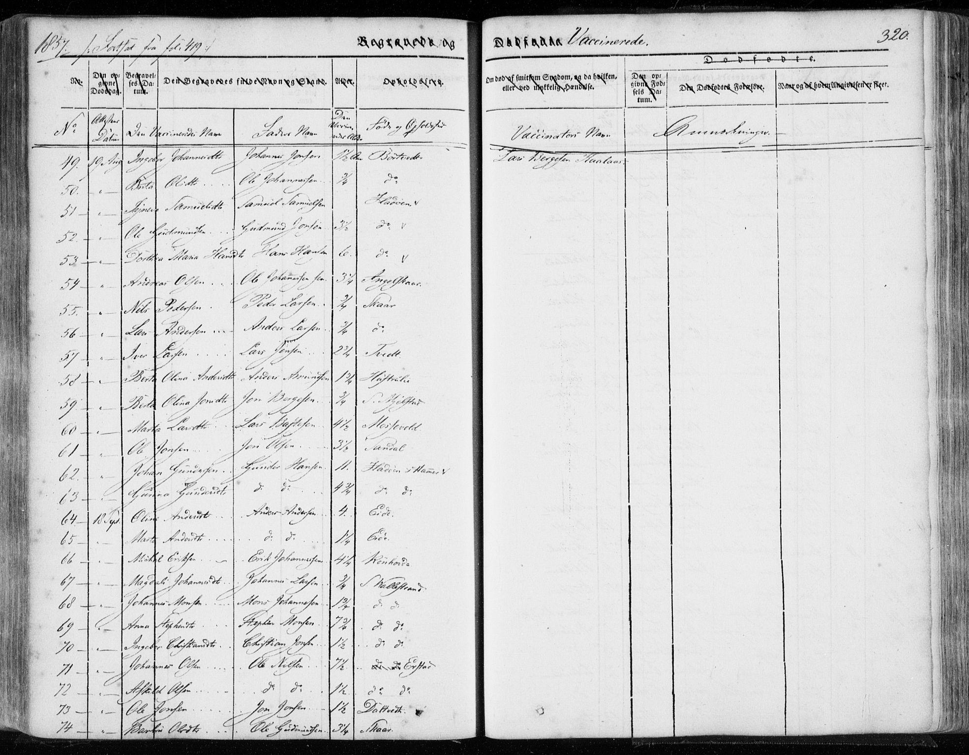 SAB, Hamre sokneprestembete, H/Ha/Haa/Haaa/L0013: Ministerialbok nr. A 13, 1846-1857, s. 320