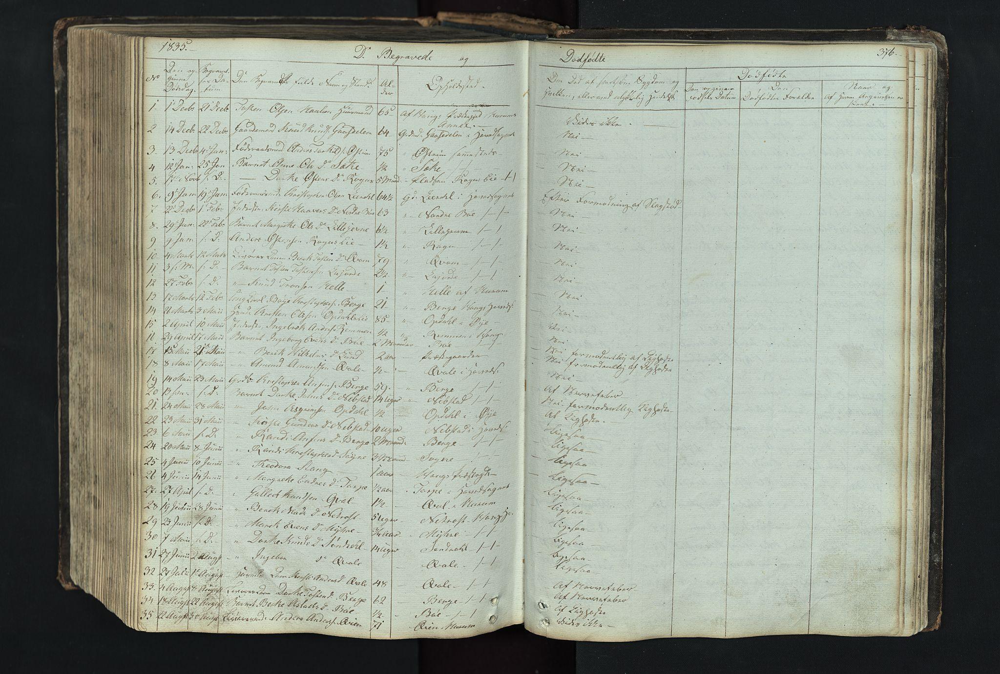 SAH, Vang prestekontor, Valdres, Klokkerbok nr. 4, 1835-1892, s. 376