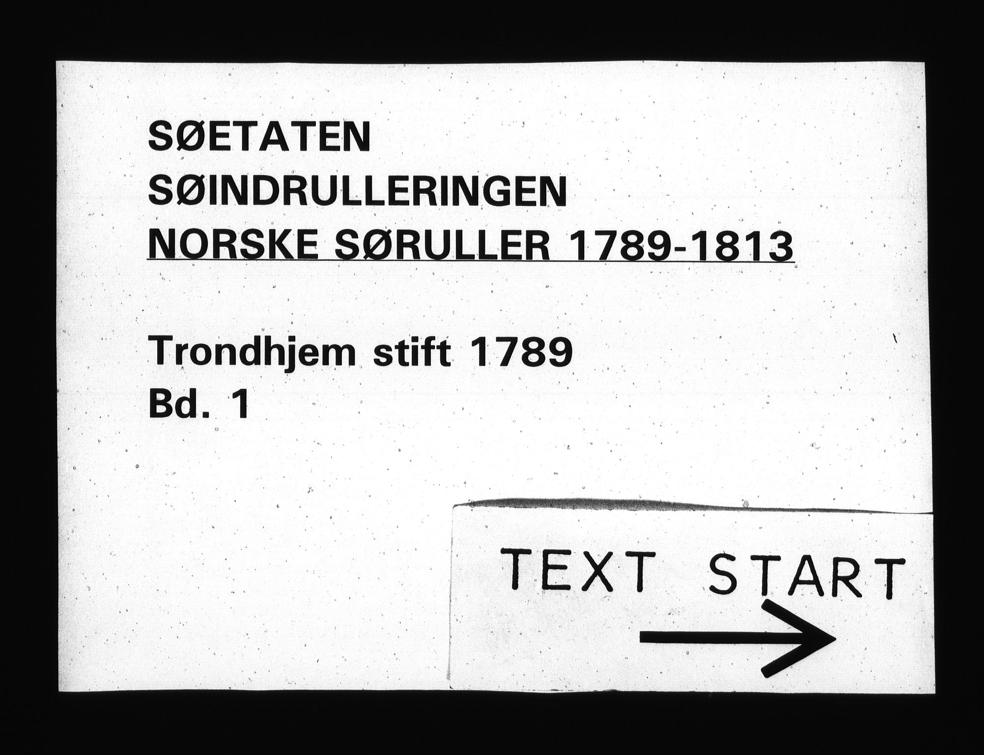 RA, Sjøetaten, F/L0306: Trondheim stift, bind 1, 1789