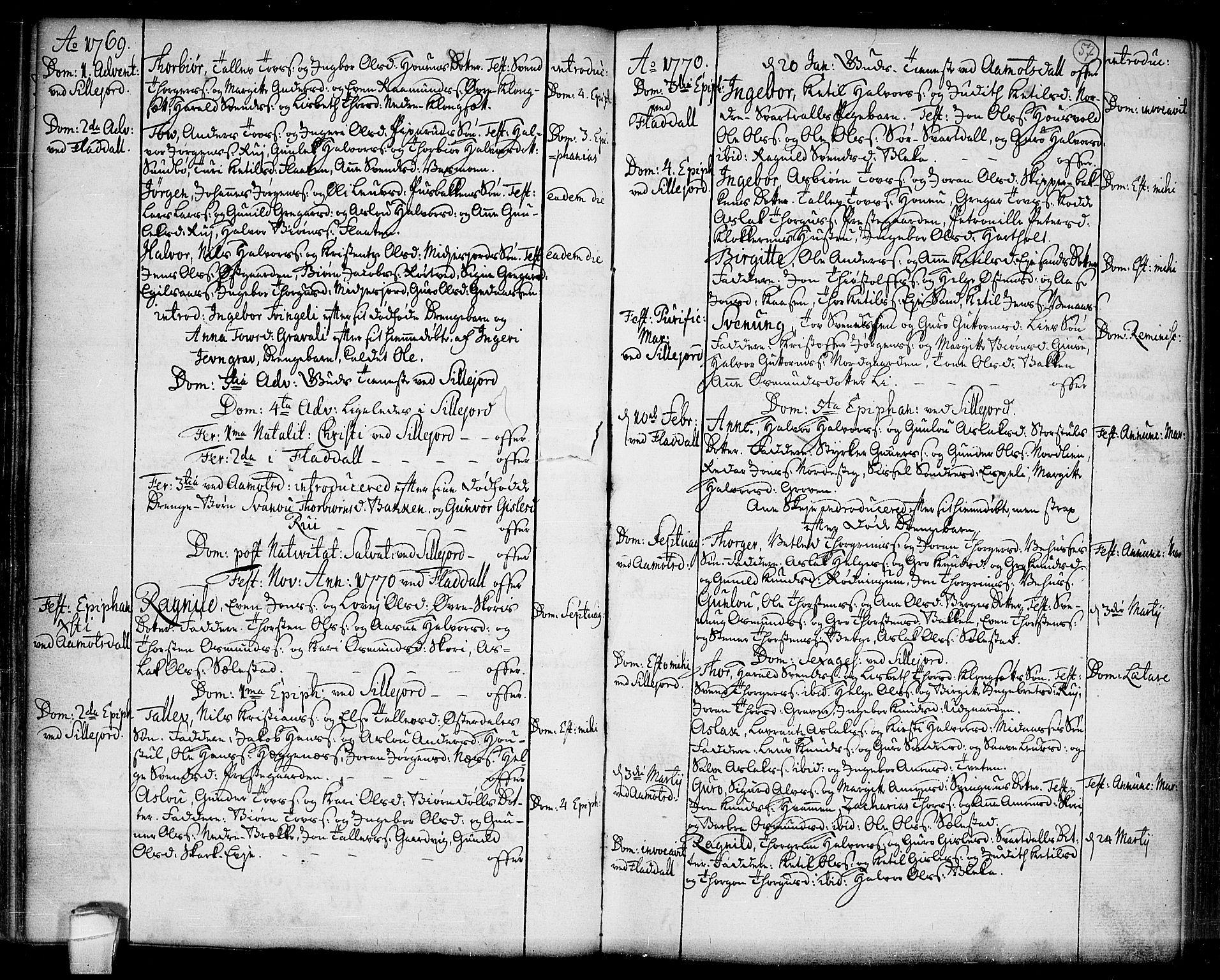 SAKO, Seljord kirkebøker, F/Fa/L0007: Ministerialbok nr. I 7, 1755-1800, s. 57