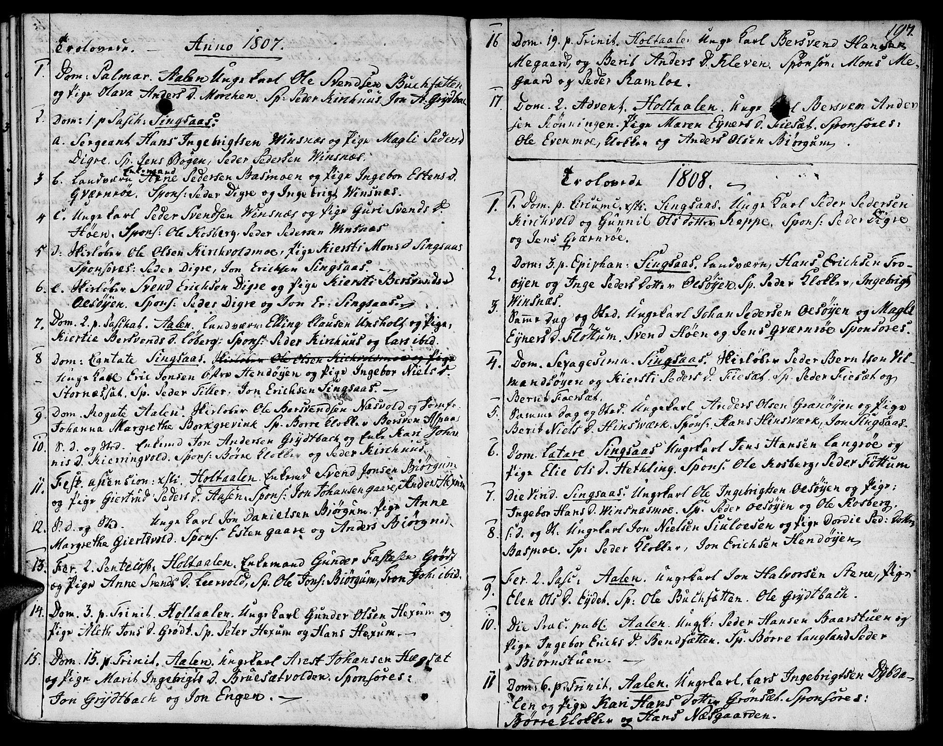 SAT, Ministerialprotokoller, klokkerbøker og fødselsregistre - Sør-Trøndelag, 685/L0953: Ministerialbok nr. 685A02, 1805-1816, s. 197